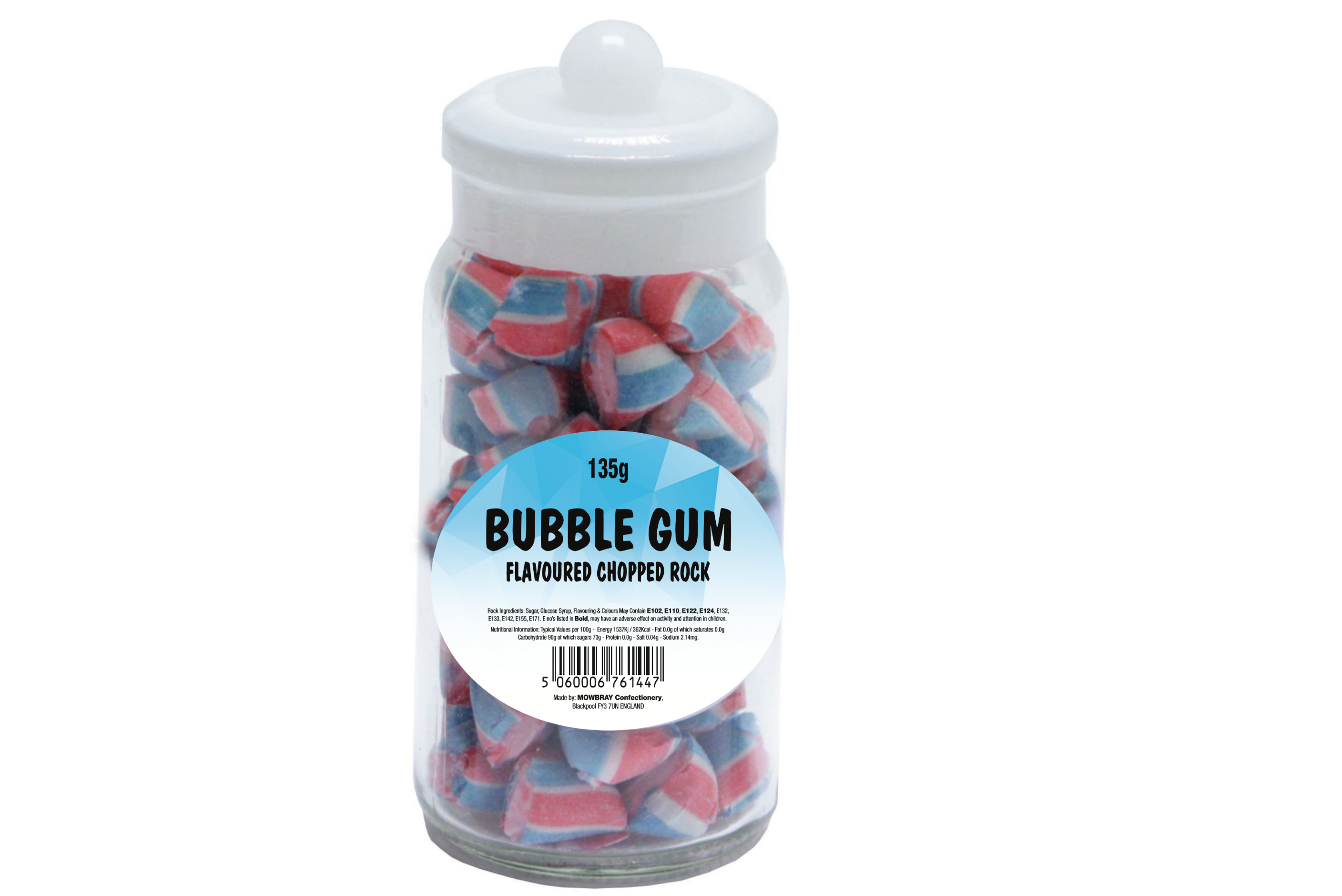 Bubblegum Rock - Glass Jar