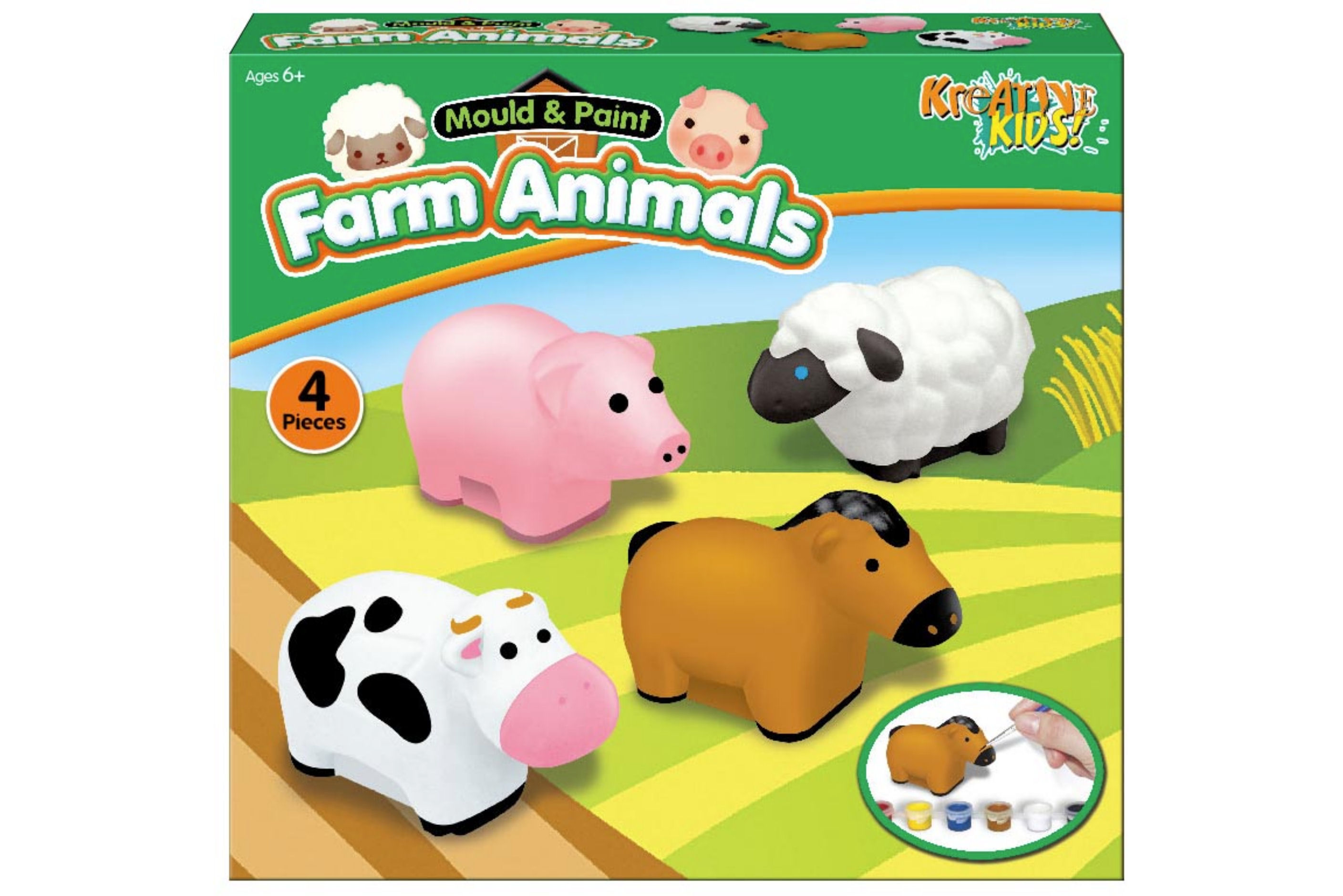 Make Your Own Farm Animals In Colour Box 500g