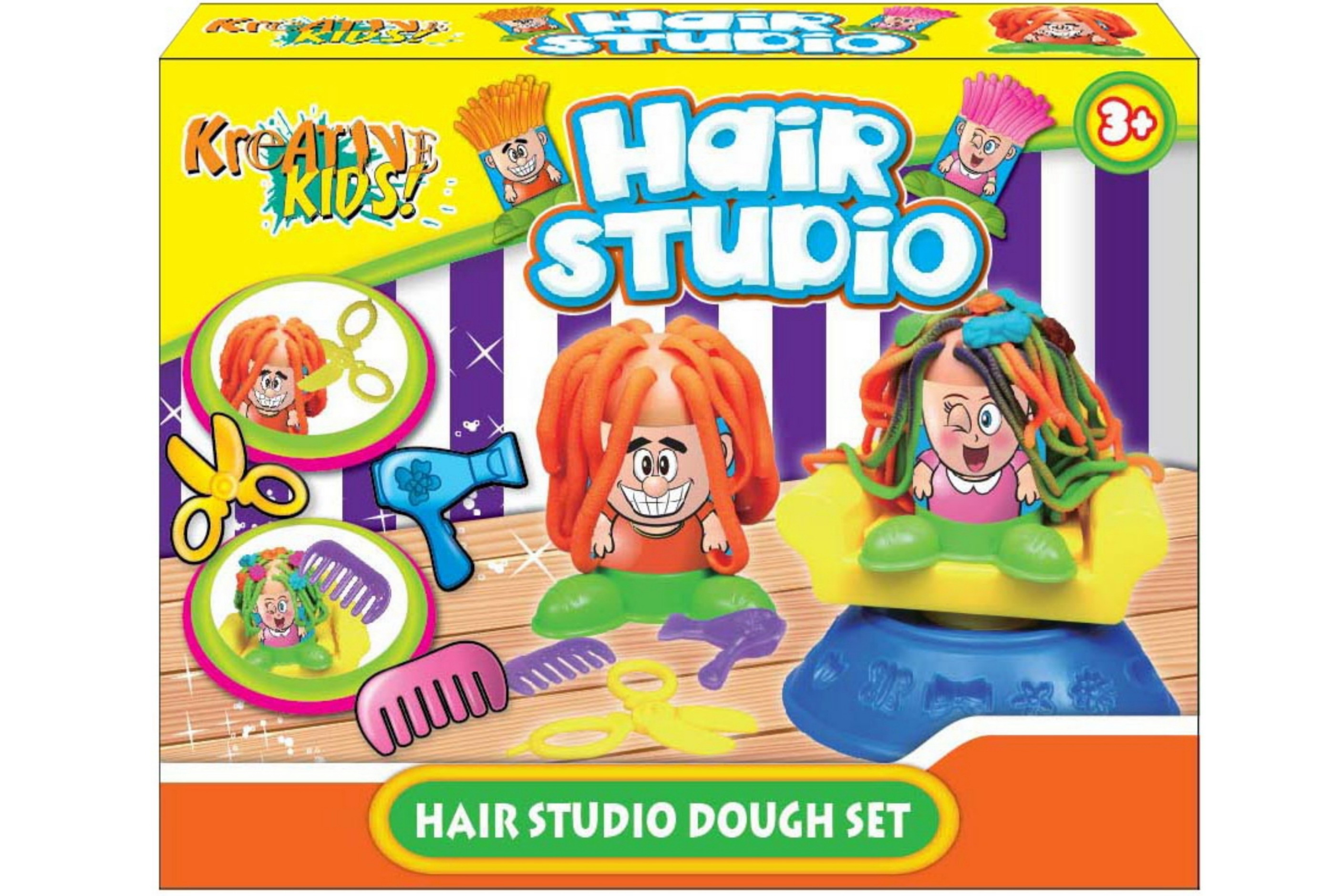 Hair Studio Dough Set In Colour Box