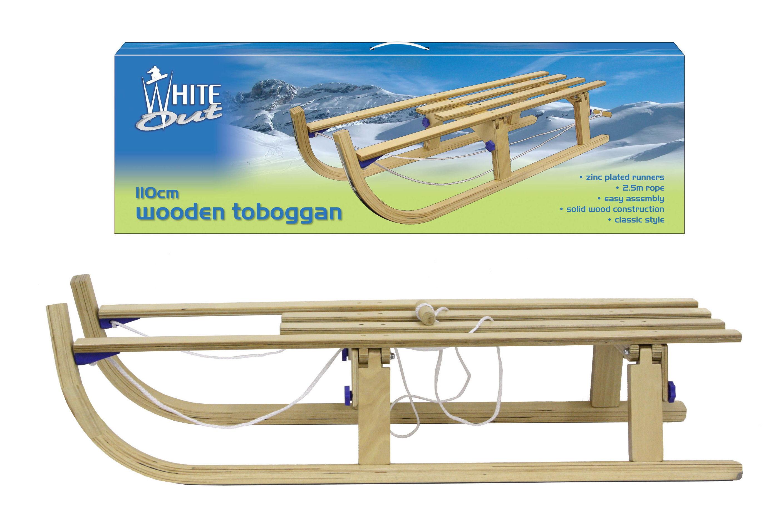 110cm Toboggan Wood-Zinc Plated Runners - Flat Pack