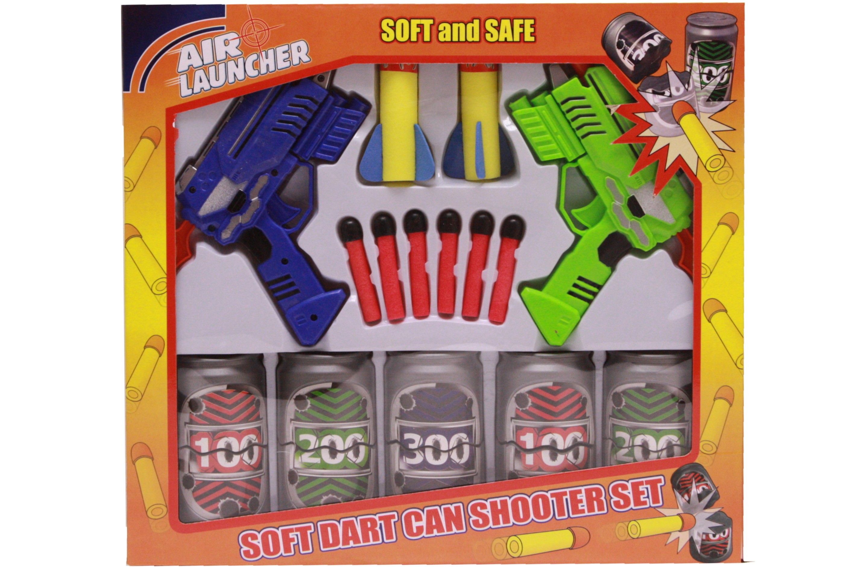 "Twin Dart Gun Can-Buster Game In Winbox ""Air Launcher"""