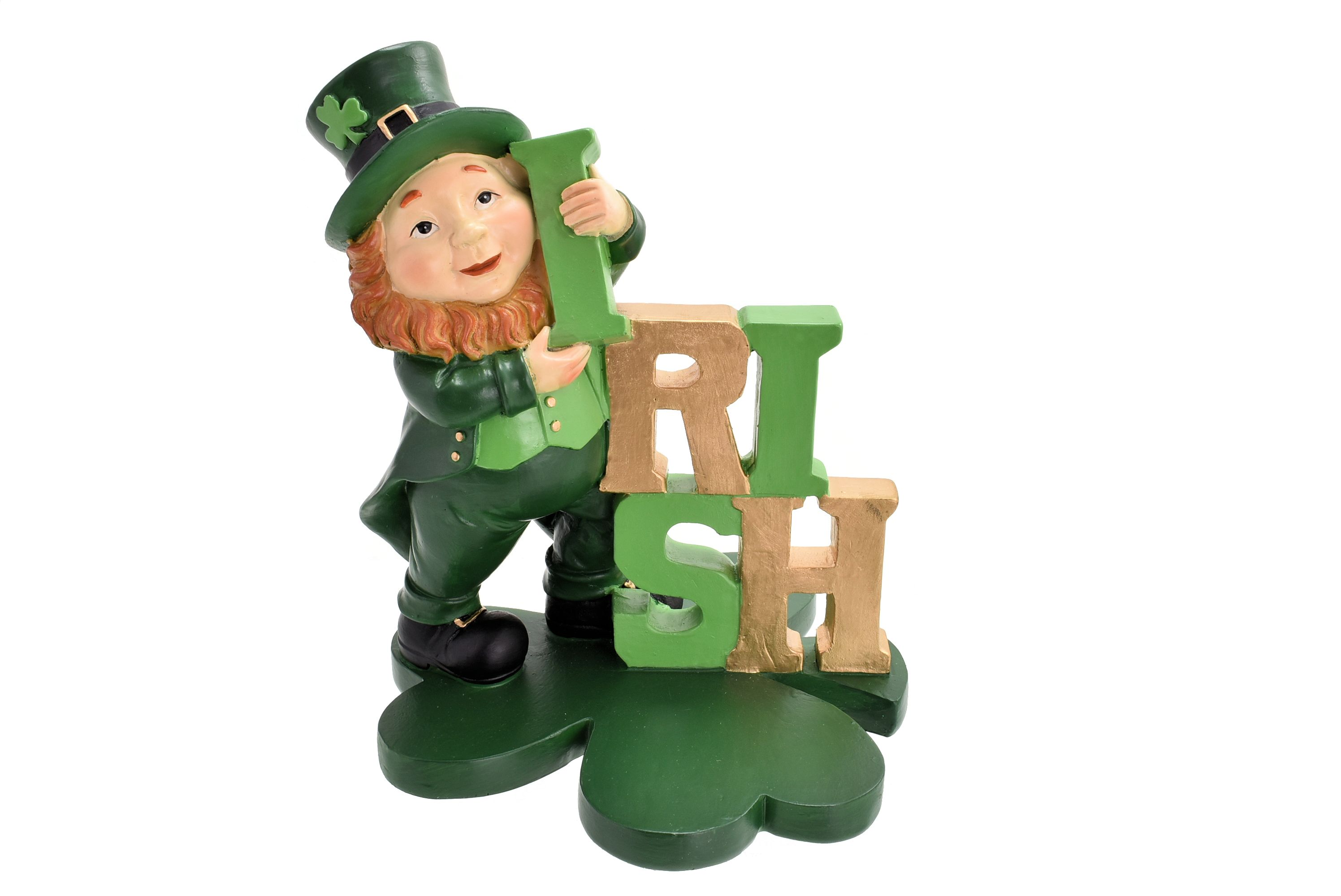 Polyresin Irish Leprechaun Sign