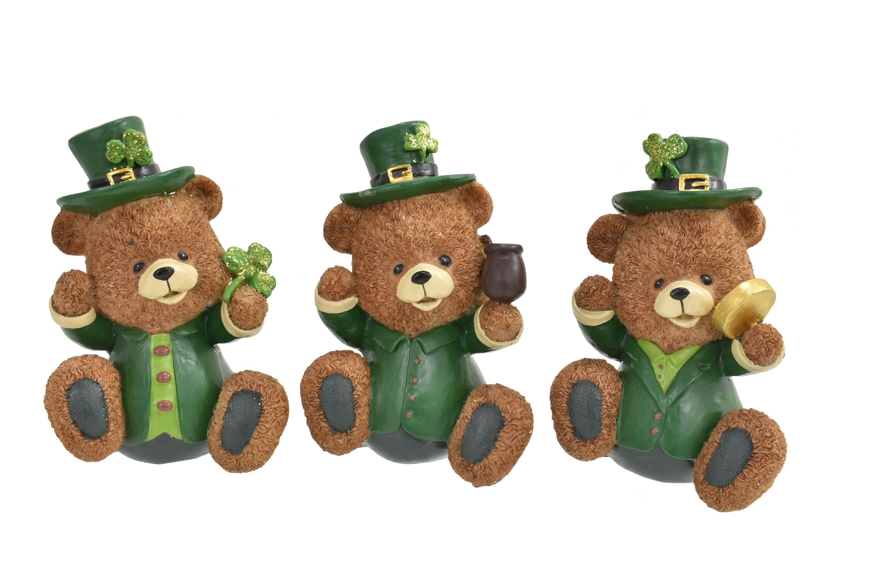 Polyresin Irish Bear 3 Assorted Designs