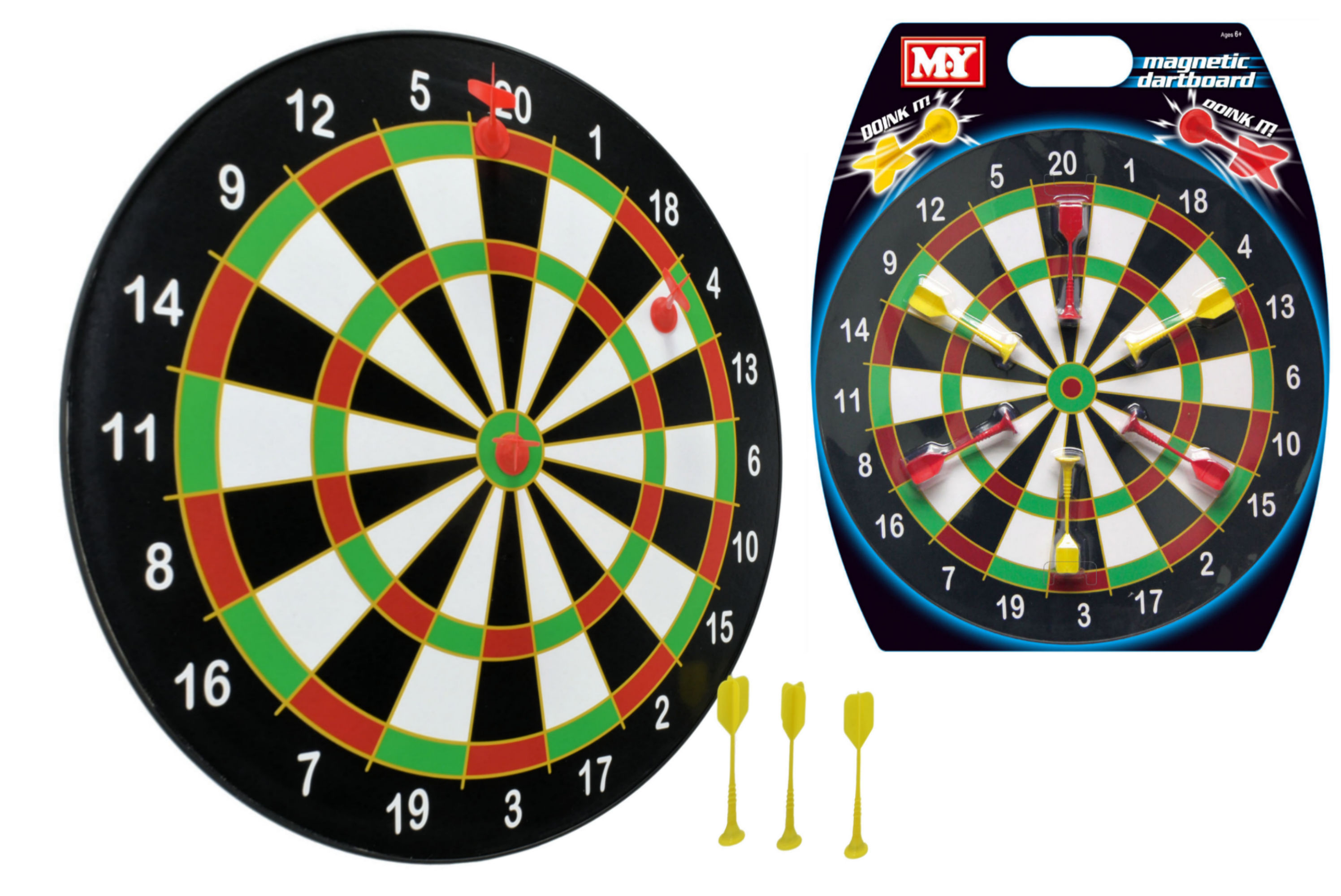 "Doink It 16"" Magnetic Dartboard With 6 Darts ""M.Y"""