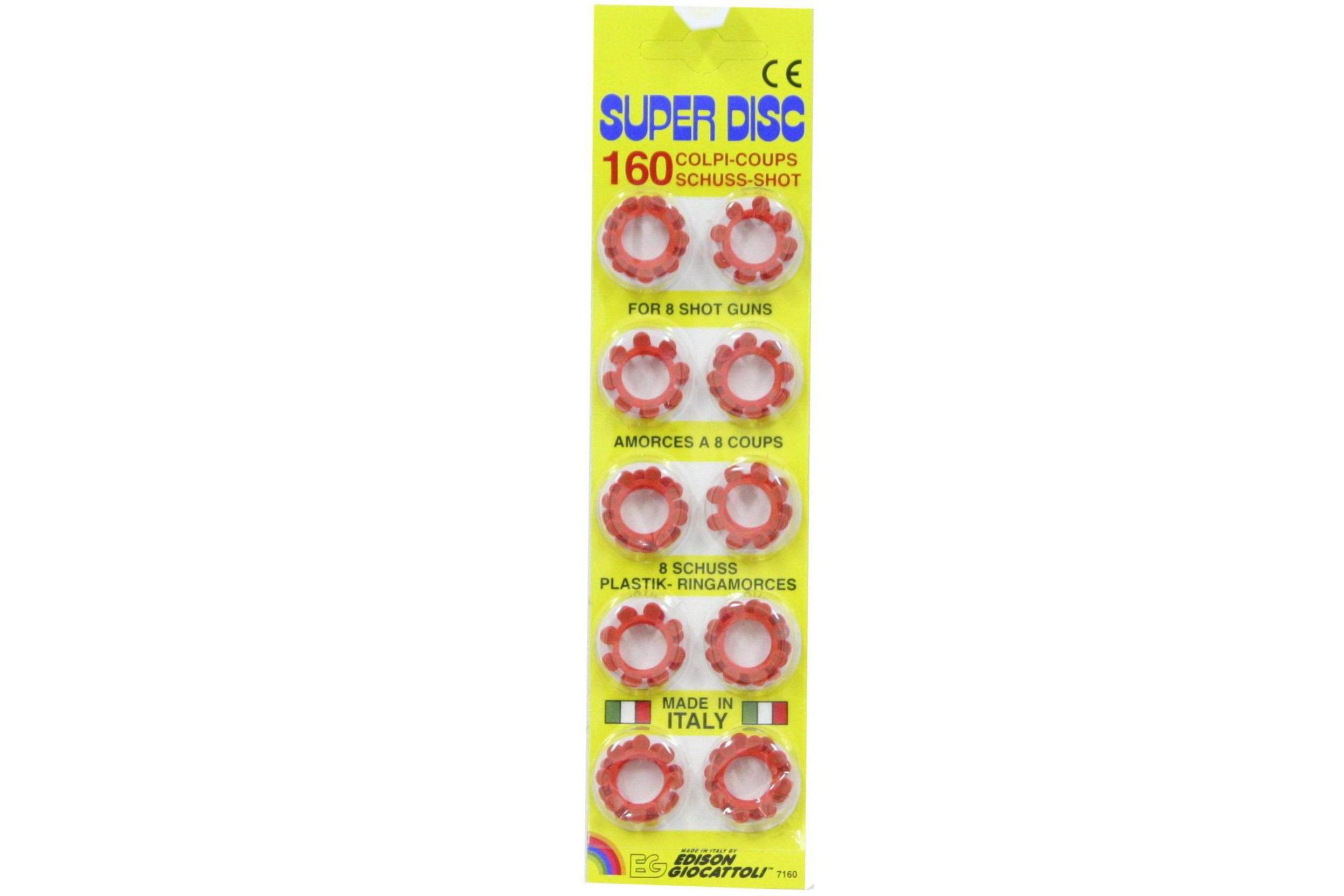 8 Shot Ring Caps - 160 Shots - 20 Rings - Blister Card