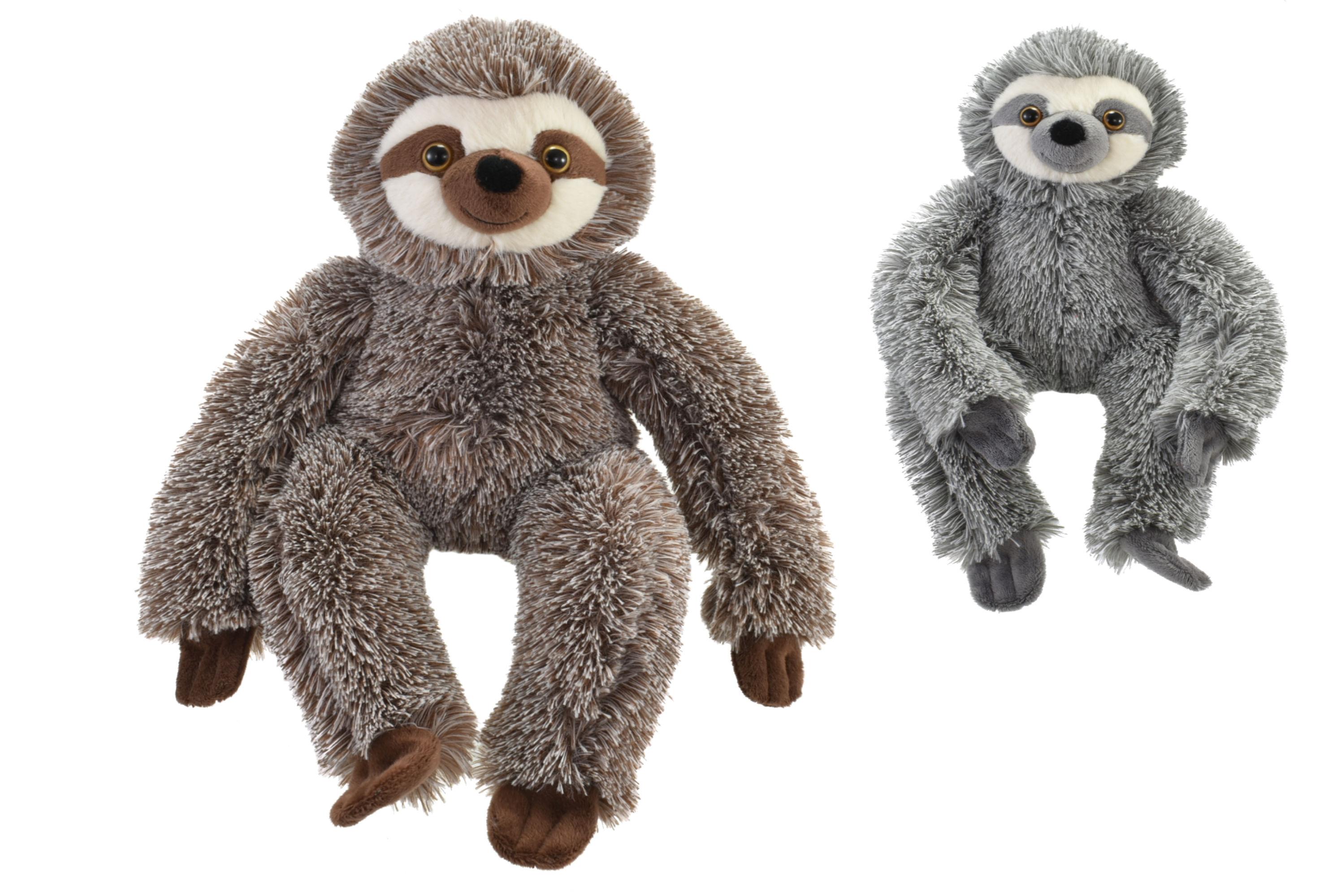 23cm Plush Sloth - 2 Assorted Colours