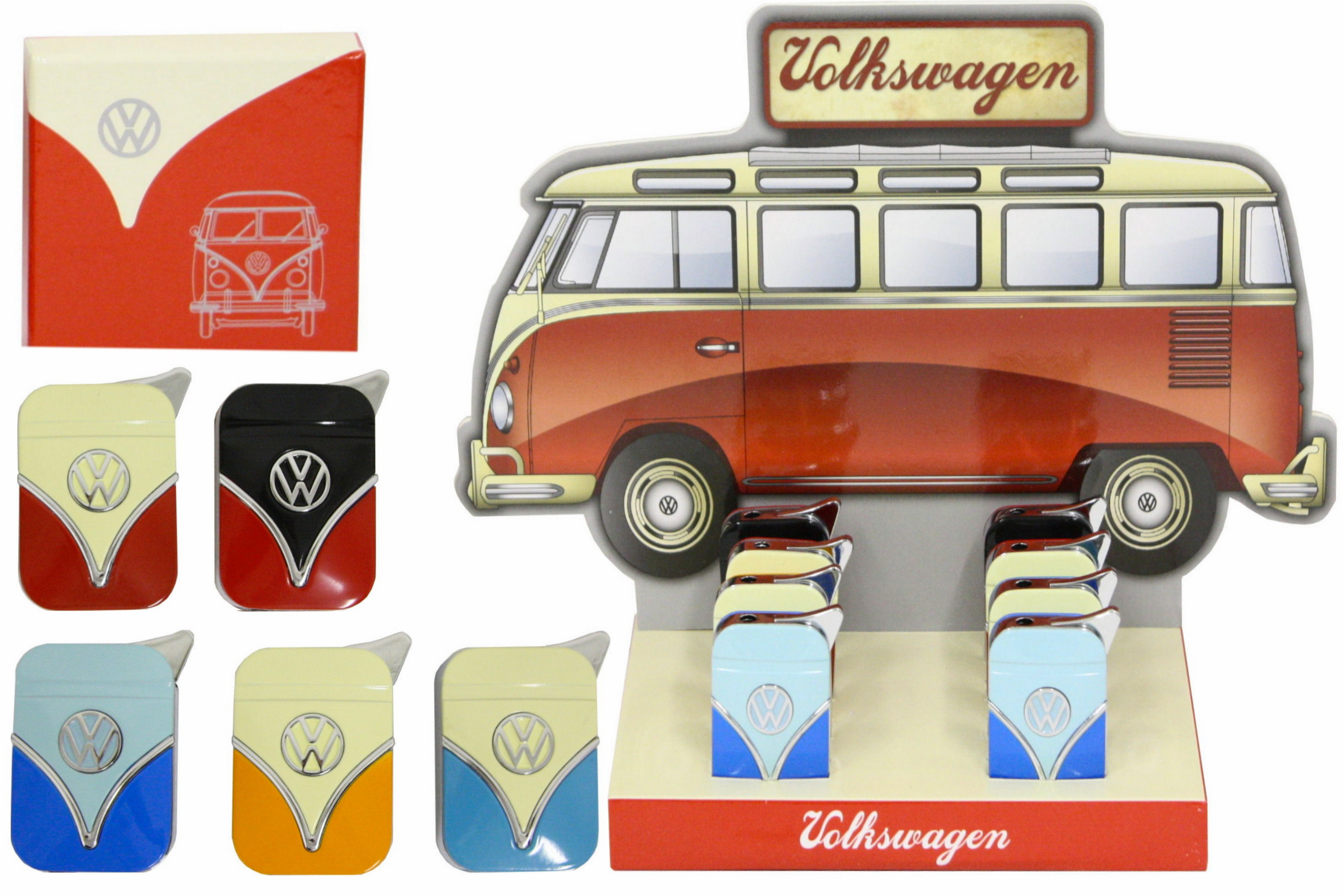 Vw Campervan Metal Lighter With Gift Box & Dbx