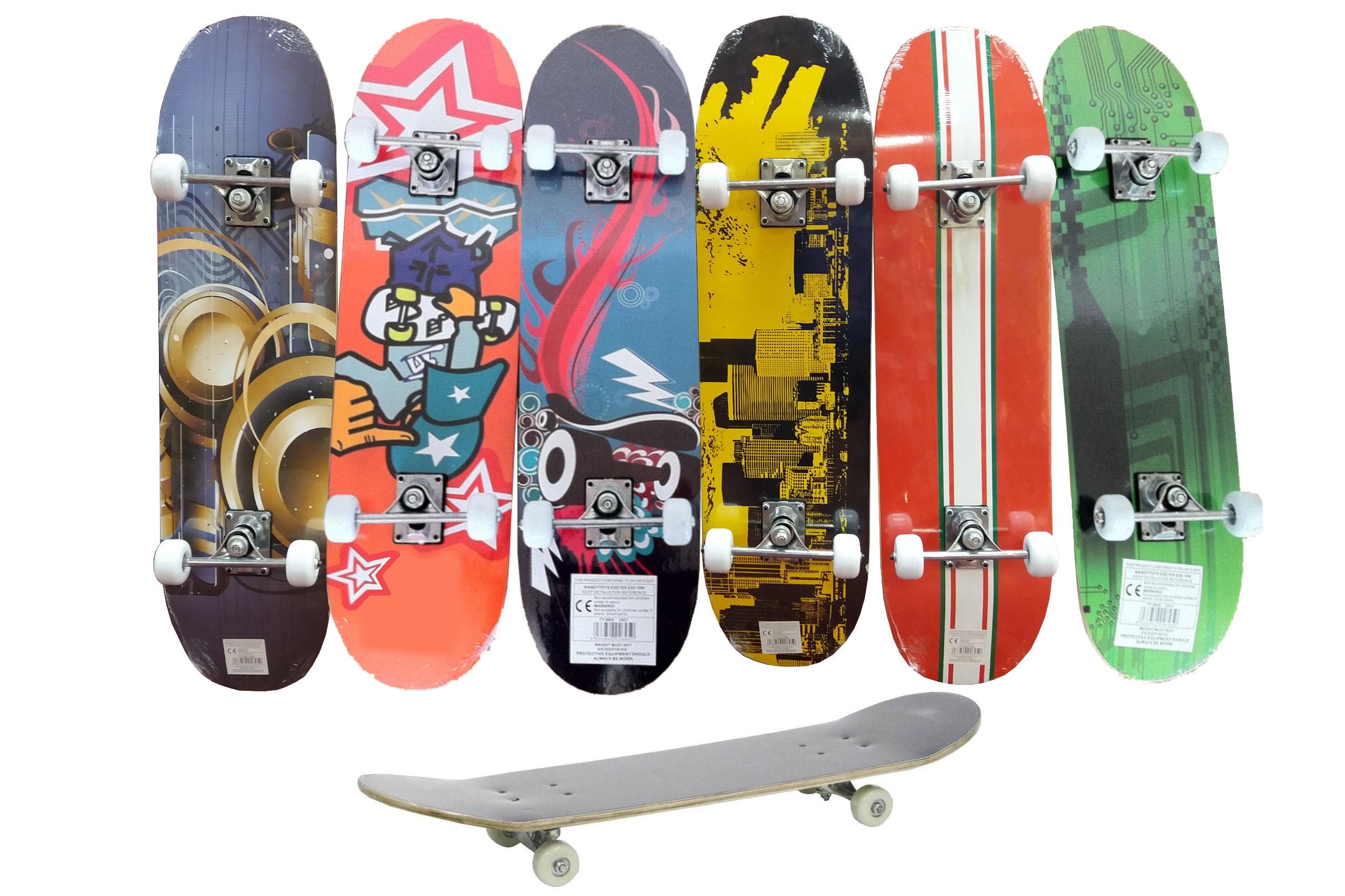 """31"""" x 8"""" """"Street Kids"""" Double Tilt End Skateboard 6 Ass"""
