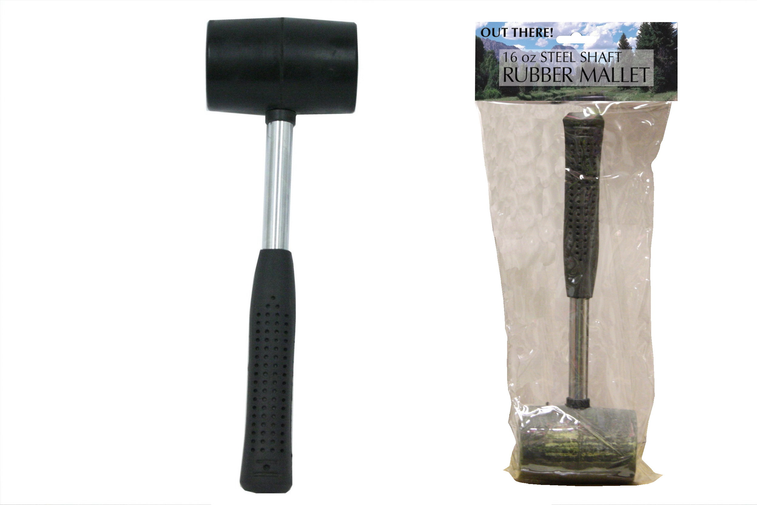 """Rubber Mallet - Steel Shaft - 16oz """"Out There"""""""