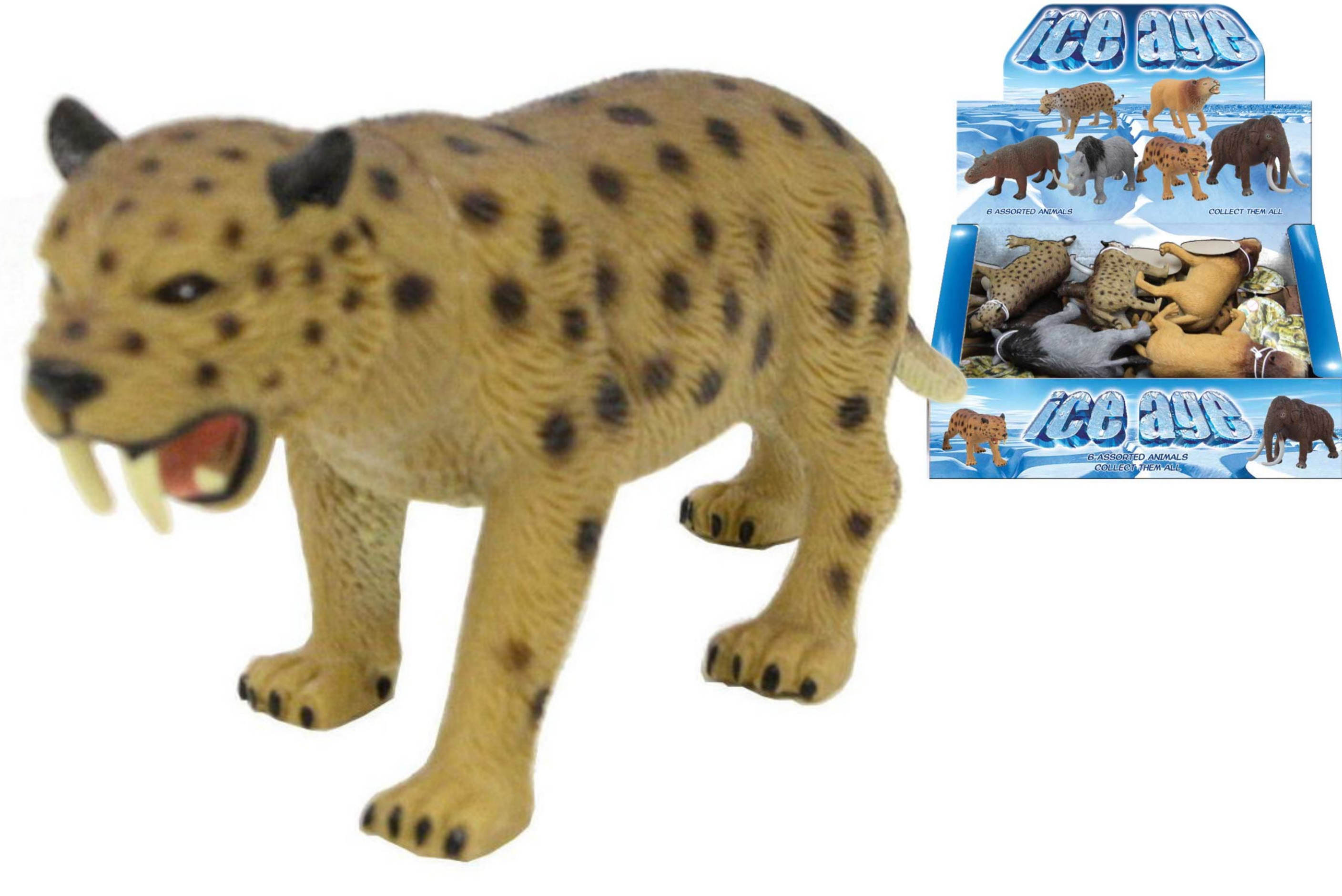 Ice Age Animals 13-17cm 6 Assorted In Display Box