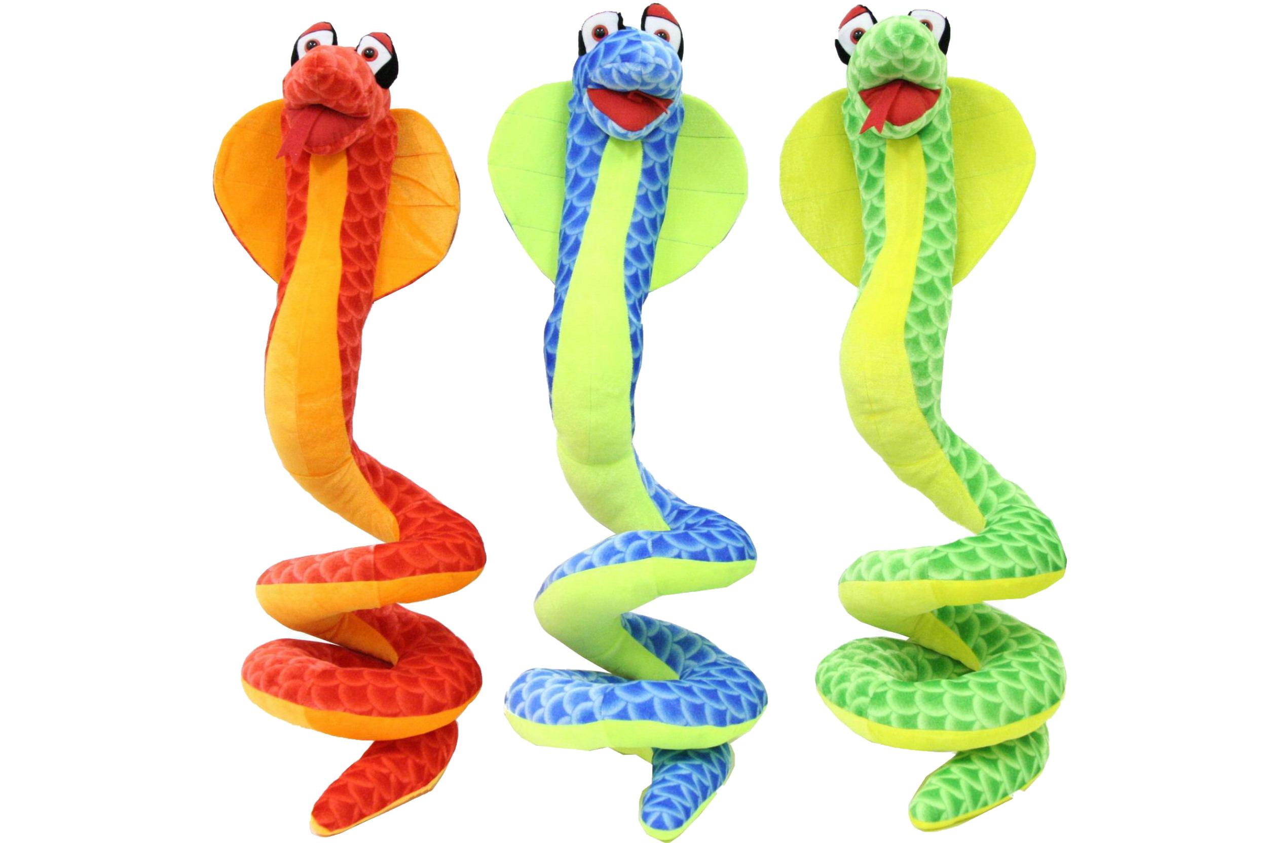 "22"" Plush Snake - 3 Assorted"