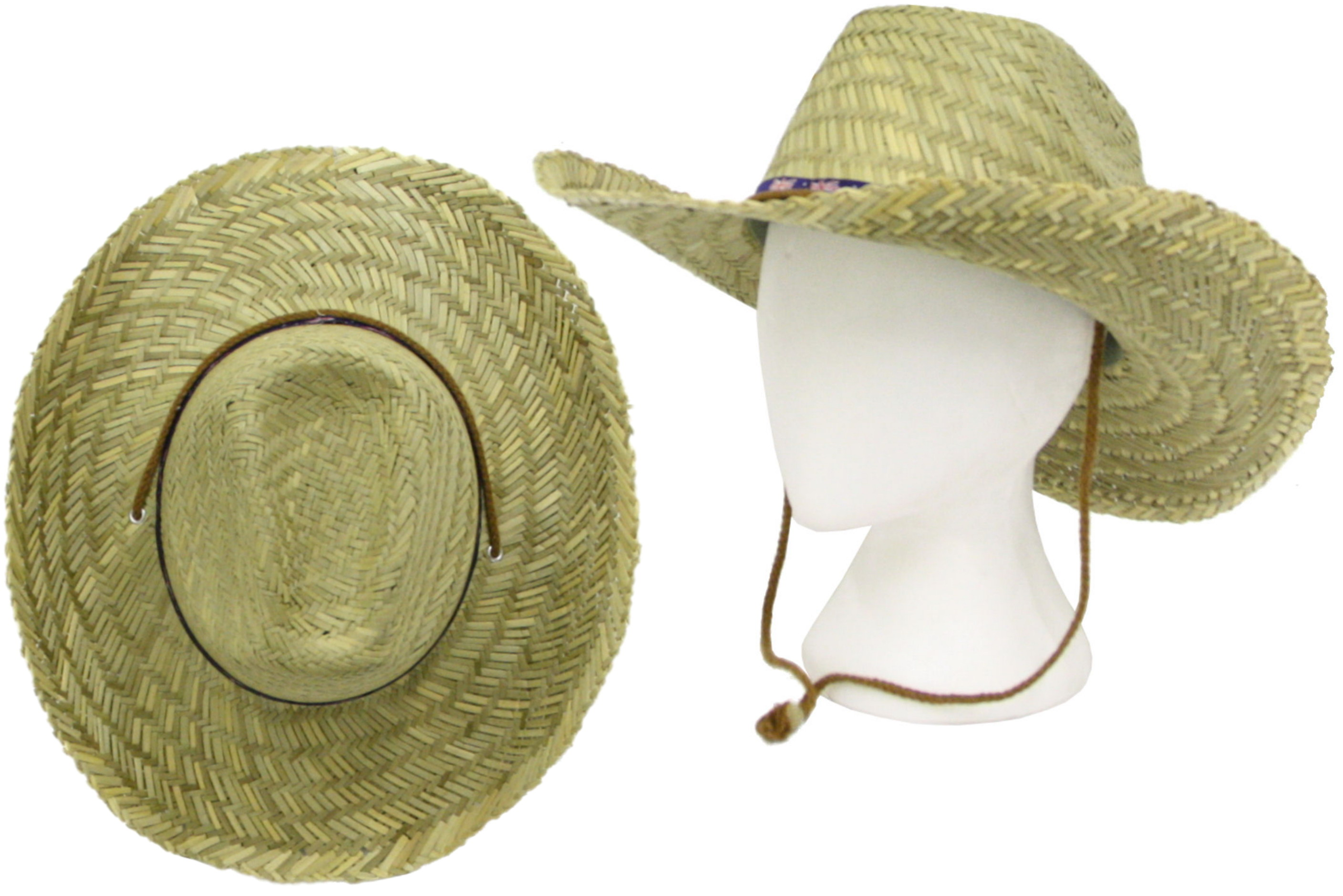 Straw Cowboy Hat With Union Jack Band