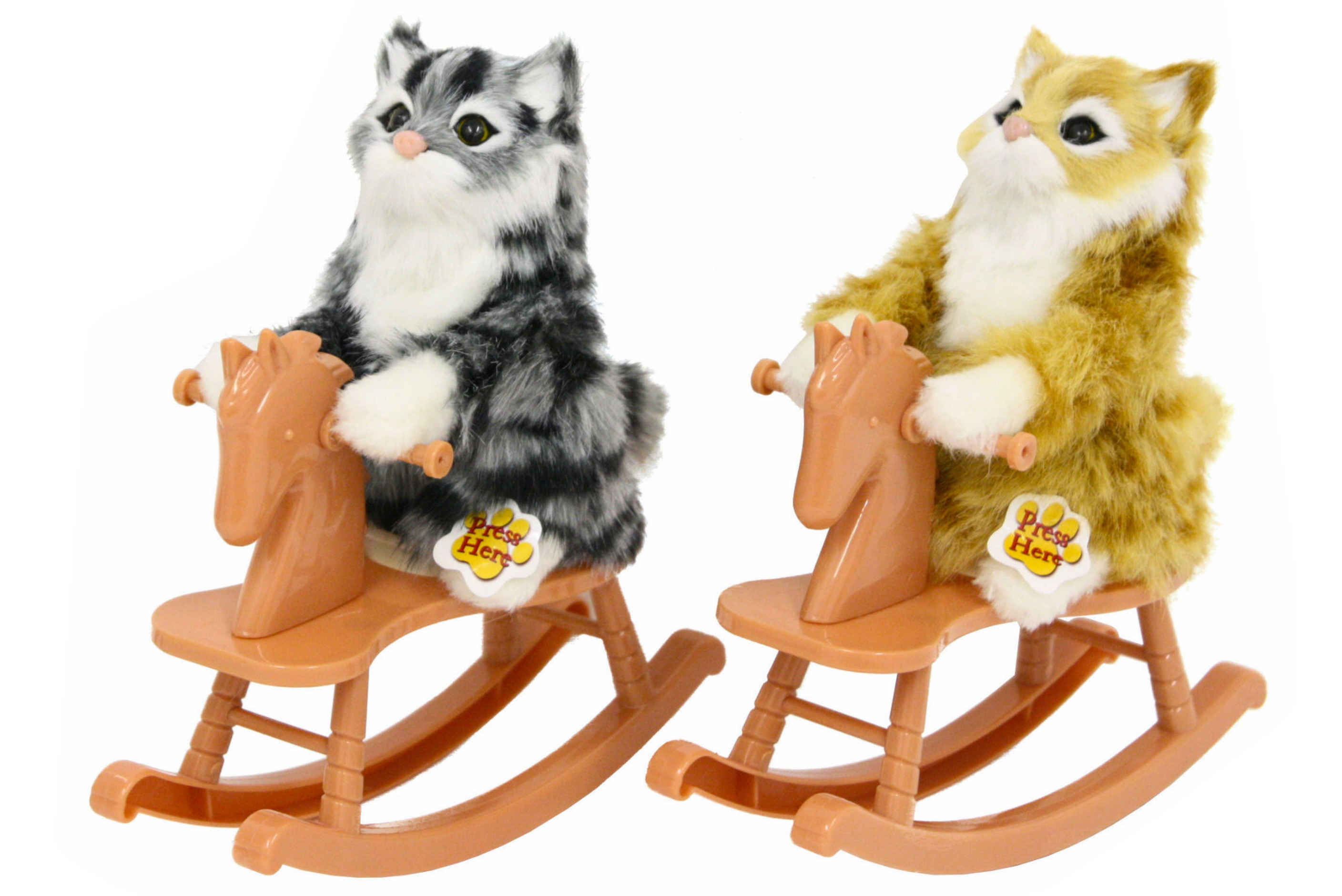 Cats On Rocking Horses With Sound - 3 Assorted