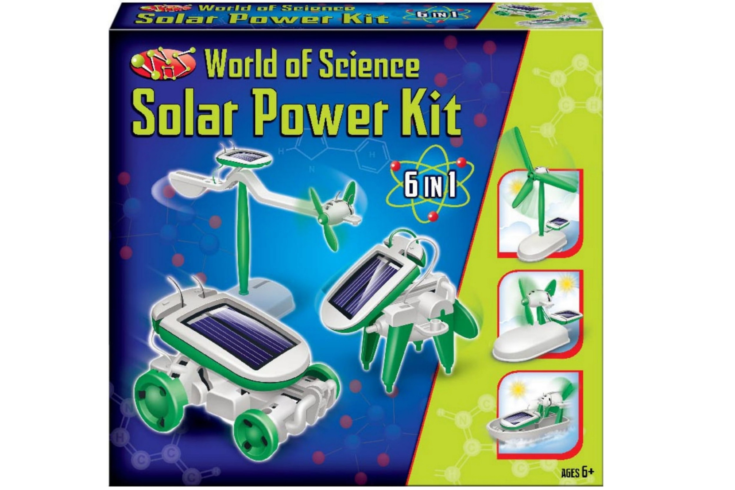 "6 In 1 Solar Power Kit - ""World Of Science"""