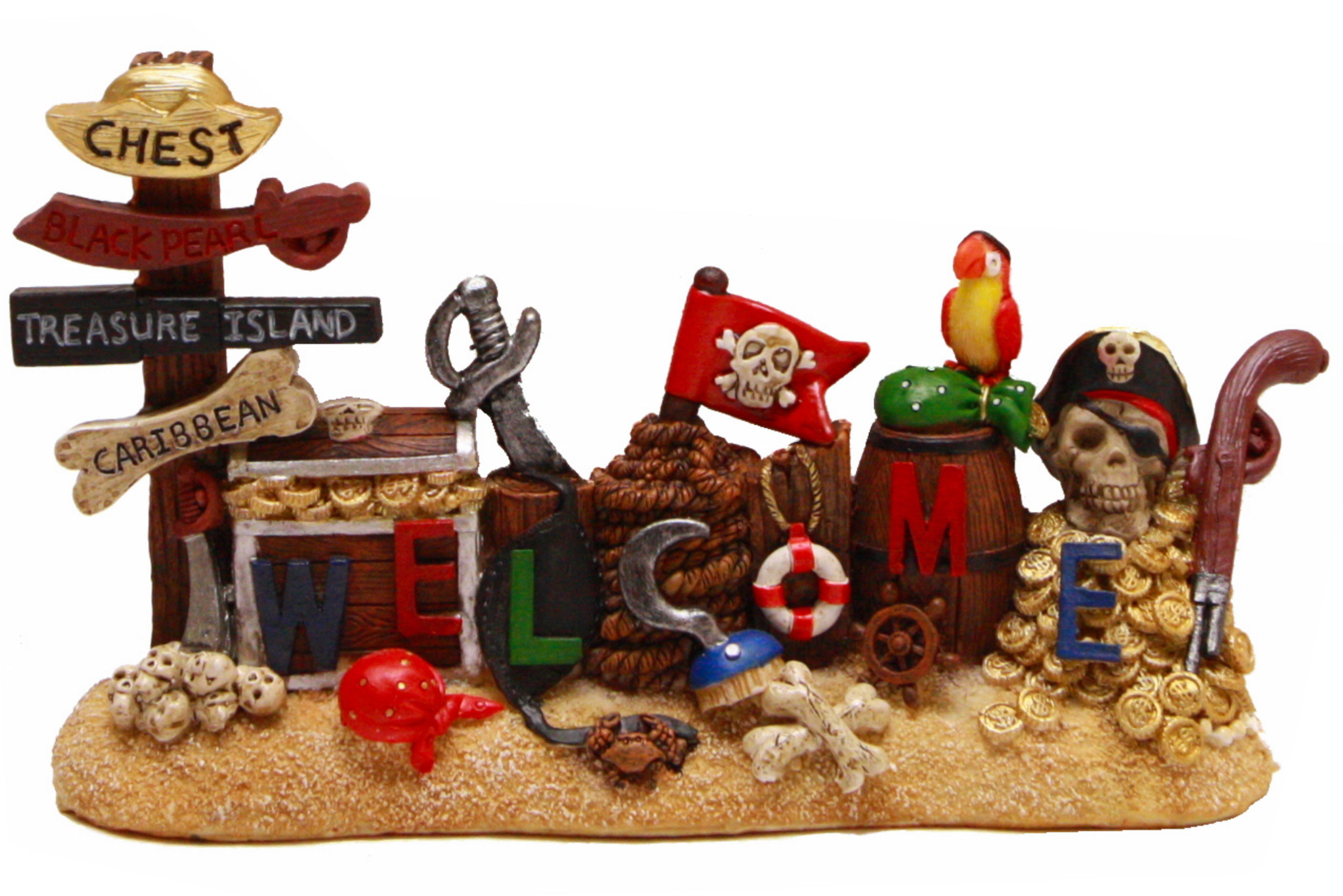 Pirate Welcome Ornament 22cm