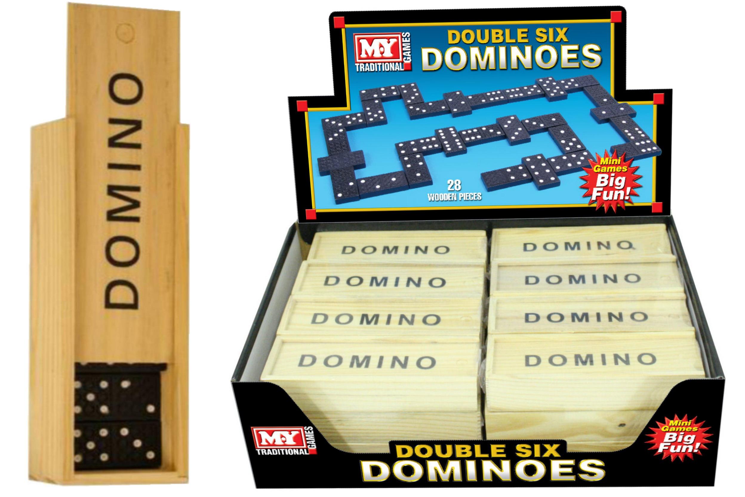 """""""M.Y"""" 6"""" Dominoes In Wood Box In Display Box"""