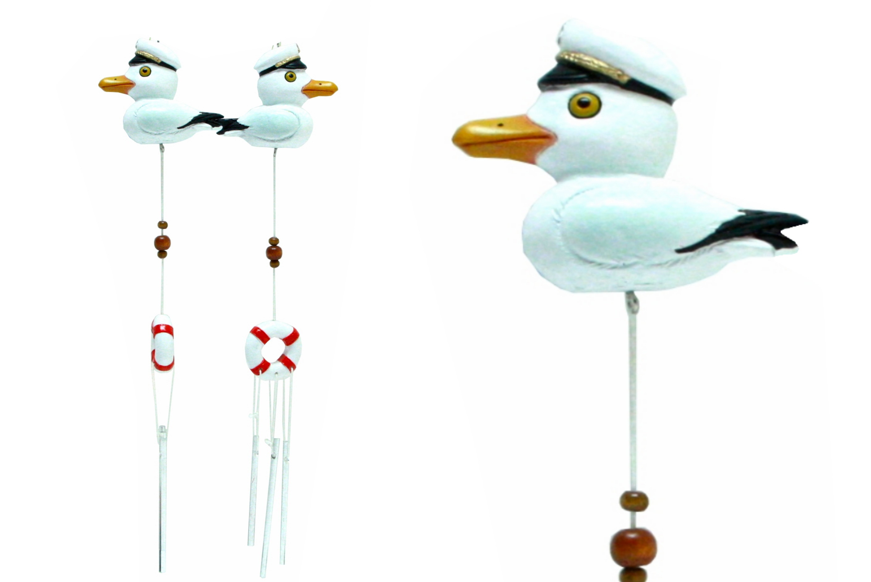 Resin Seagull Windchime 2 Assorted Designs
