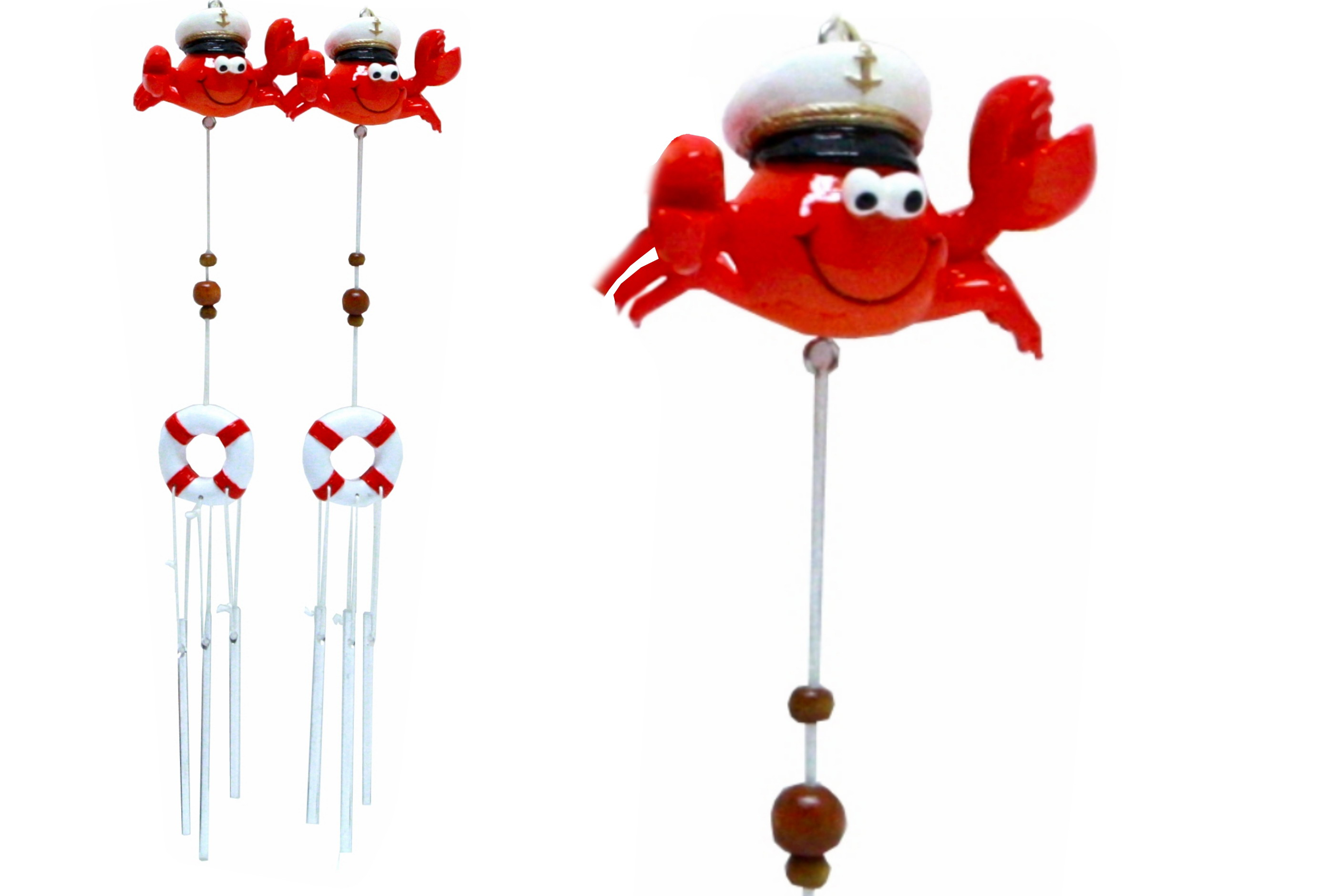 Resin Crab Windchime 2 Assorted Designs