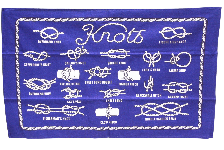 Knot Design Tea Towel 76cm x 48cm