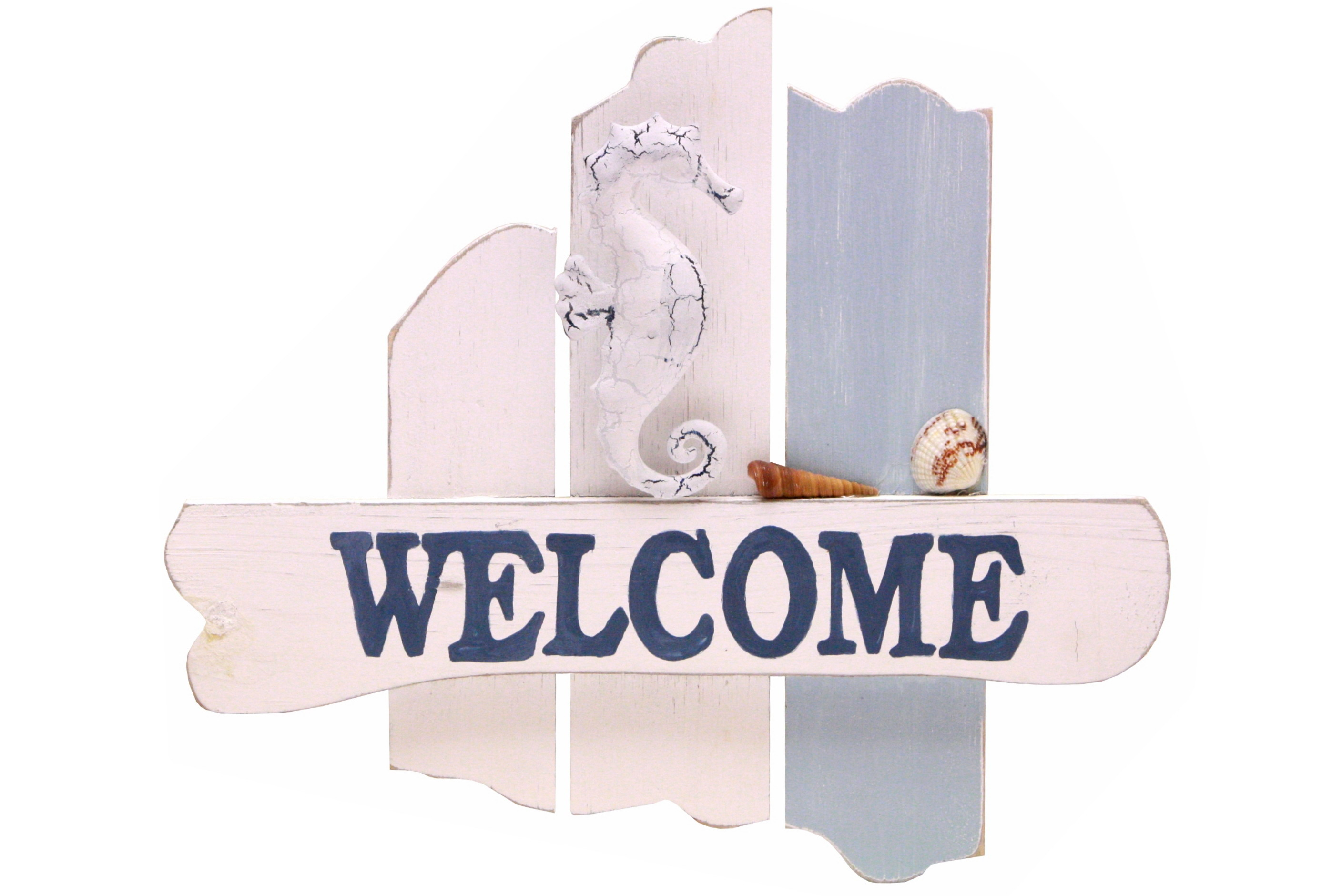 30cm Wooden Welcome Hanging Sign