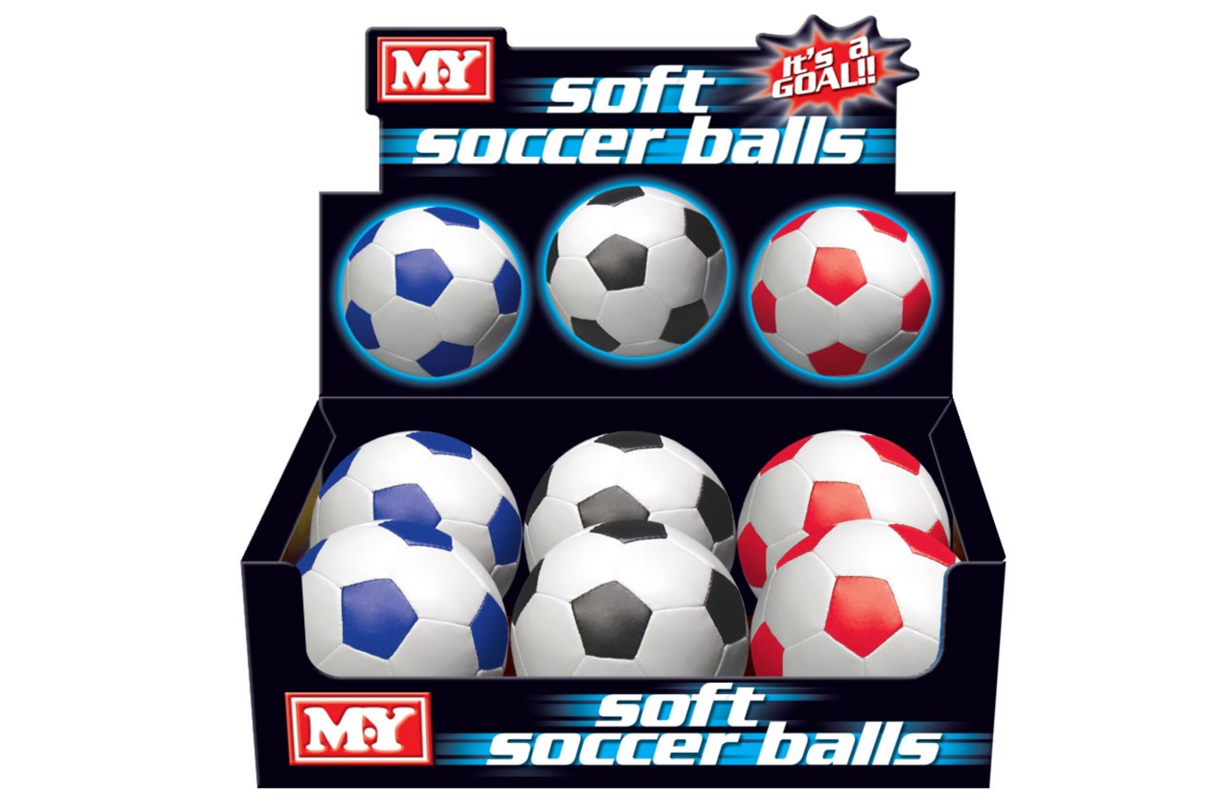 "6"" 32 Panel Pvc Soft Football In Display Box"