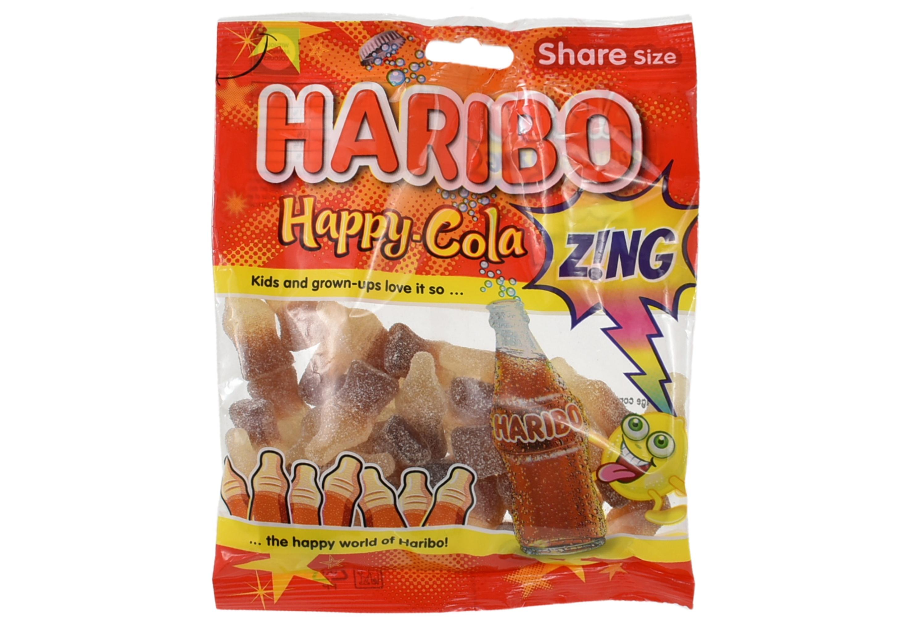 140g Happy Cola Zing Bottles Prepack - Haribo