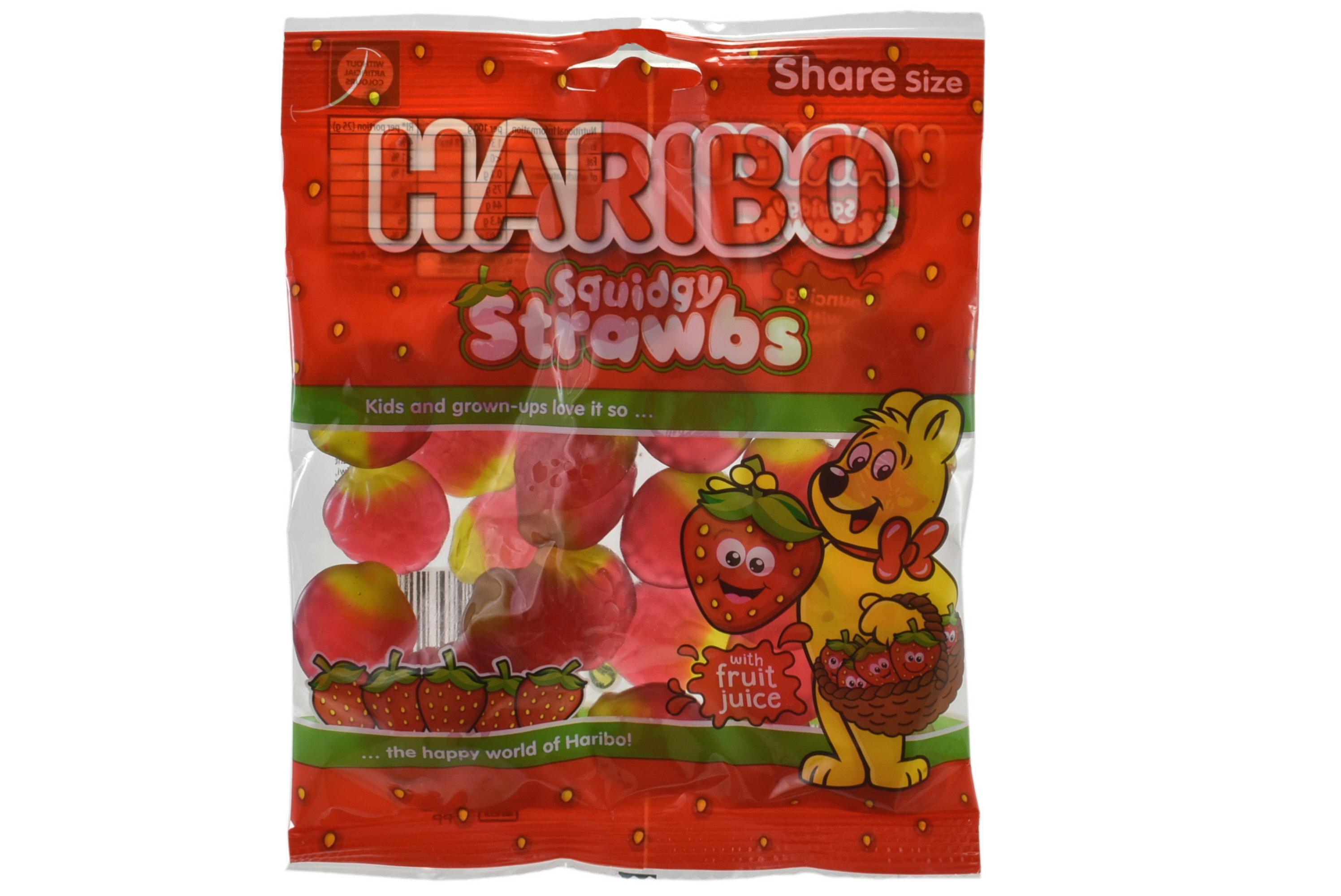 140g Squidgy Strawbs Prepack - Haribo