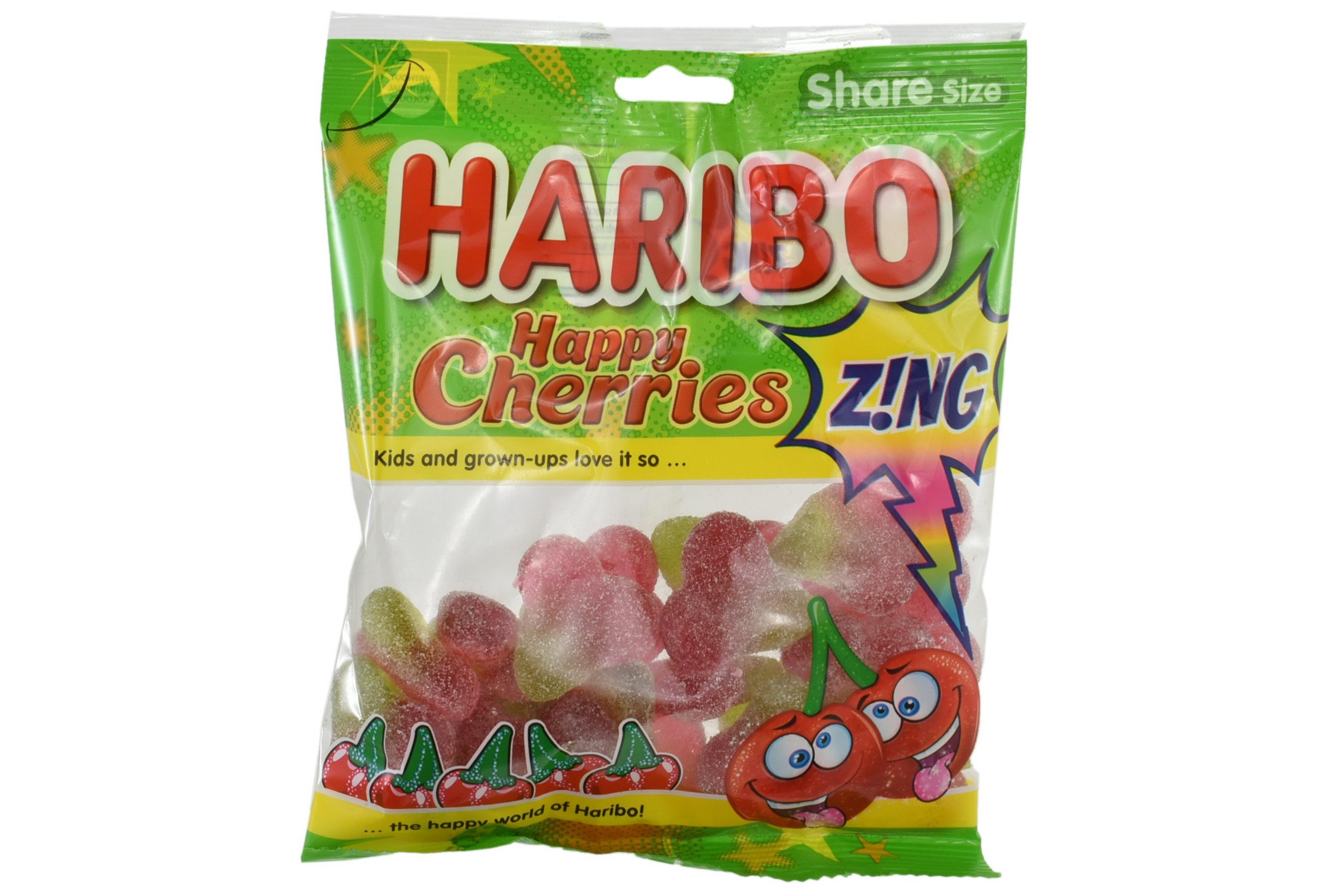 140g Happy Cherries Zing Prepack - Haribo