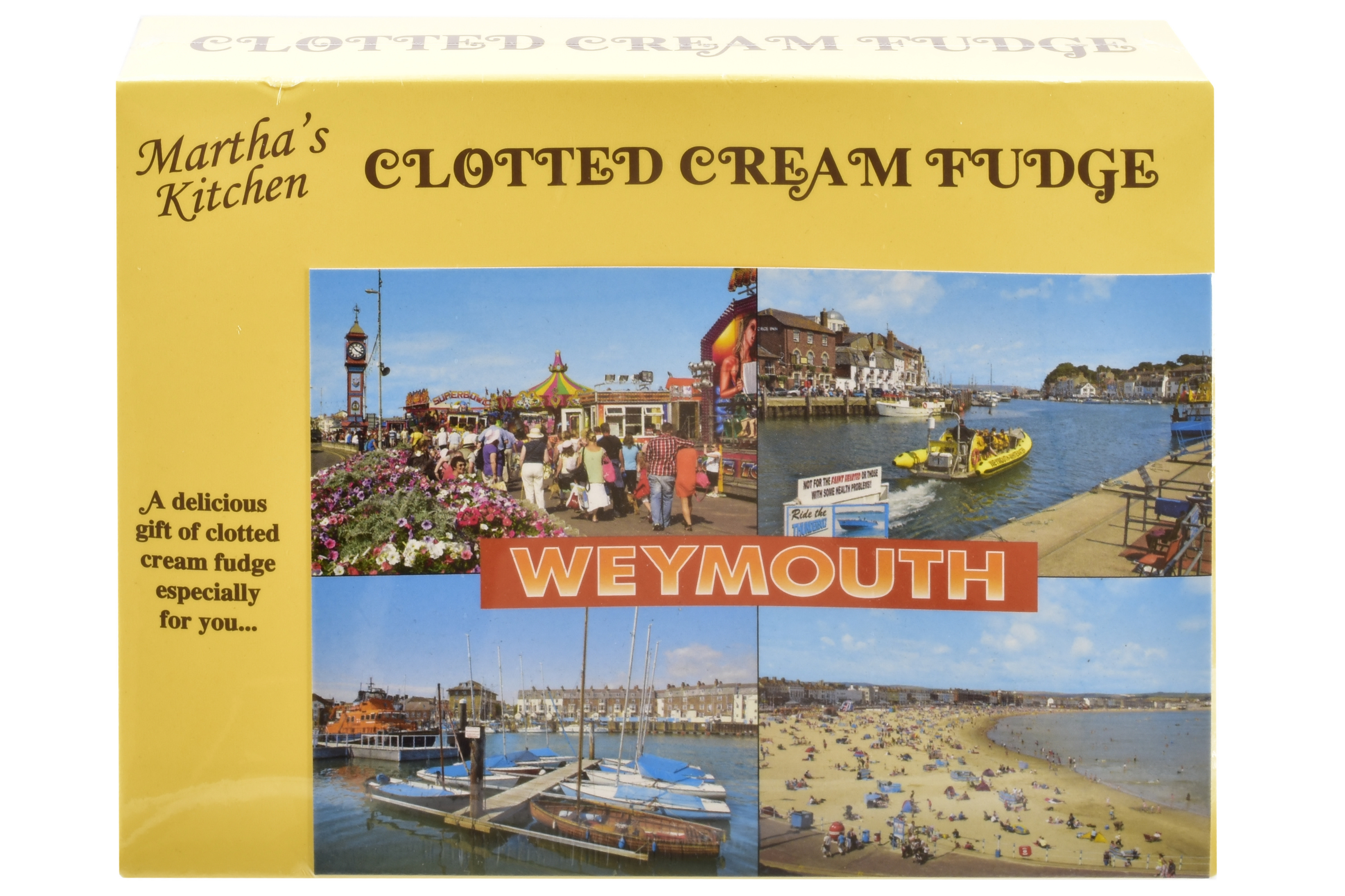 100g Clotted Cream Fudge Postcard Box