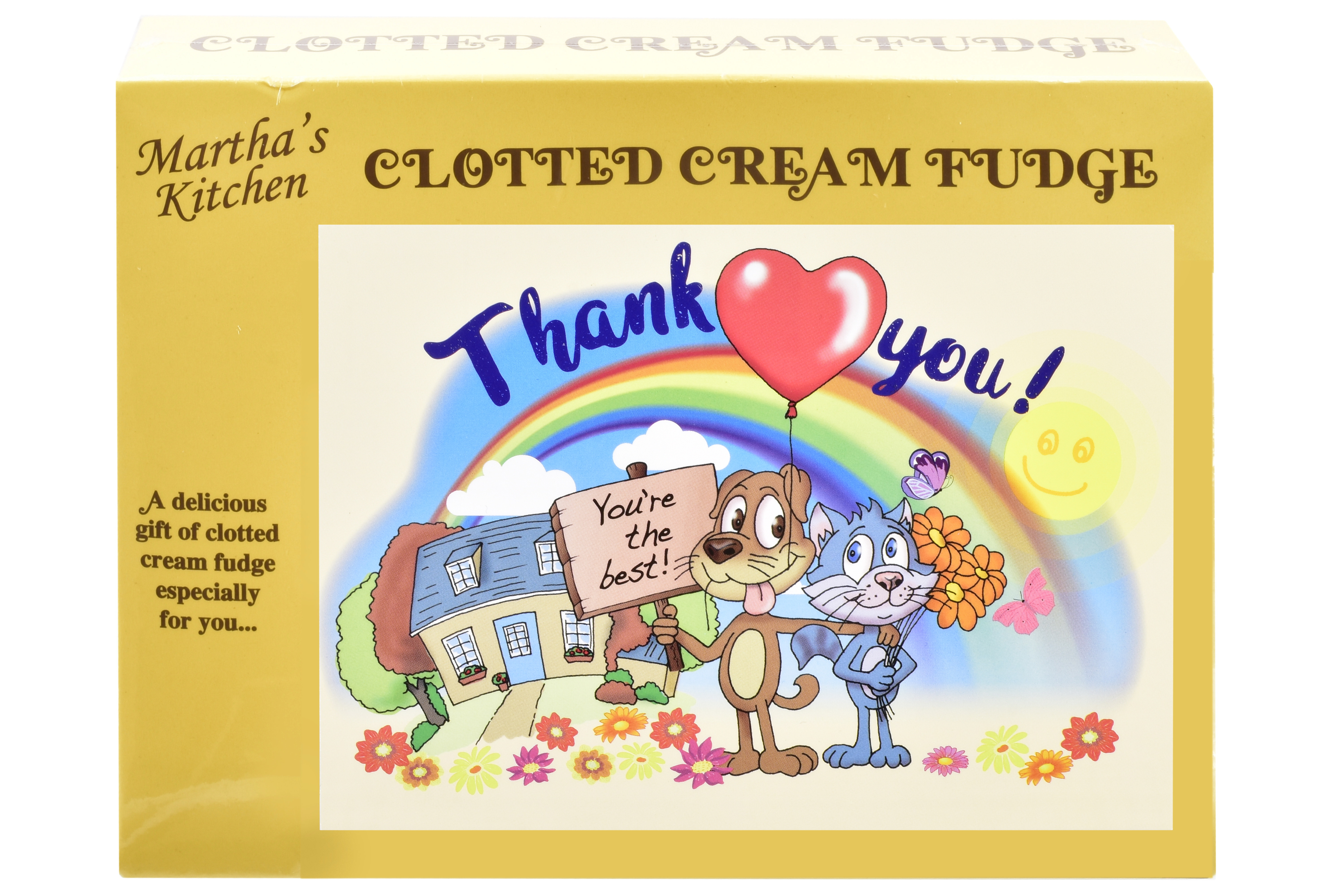 100g Clotted Cream Fudge 'Thank You' Postcard Box