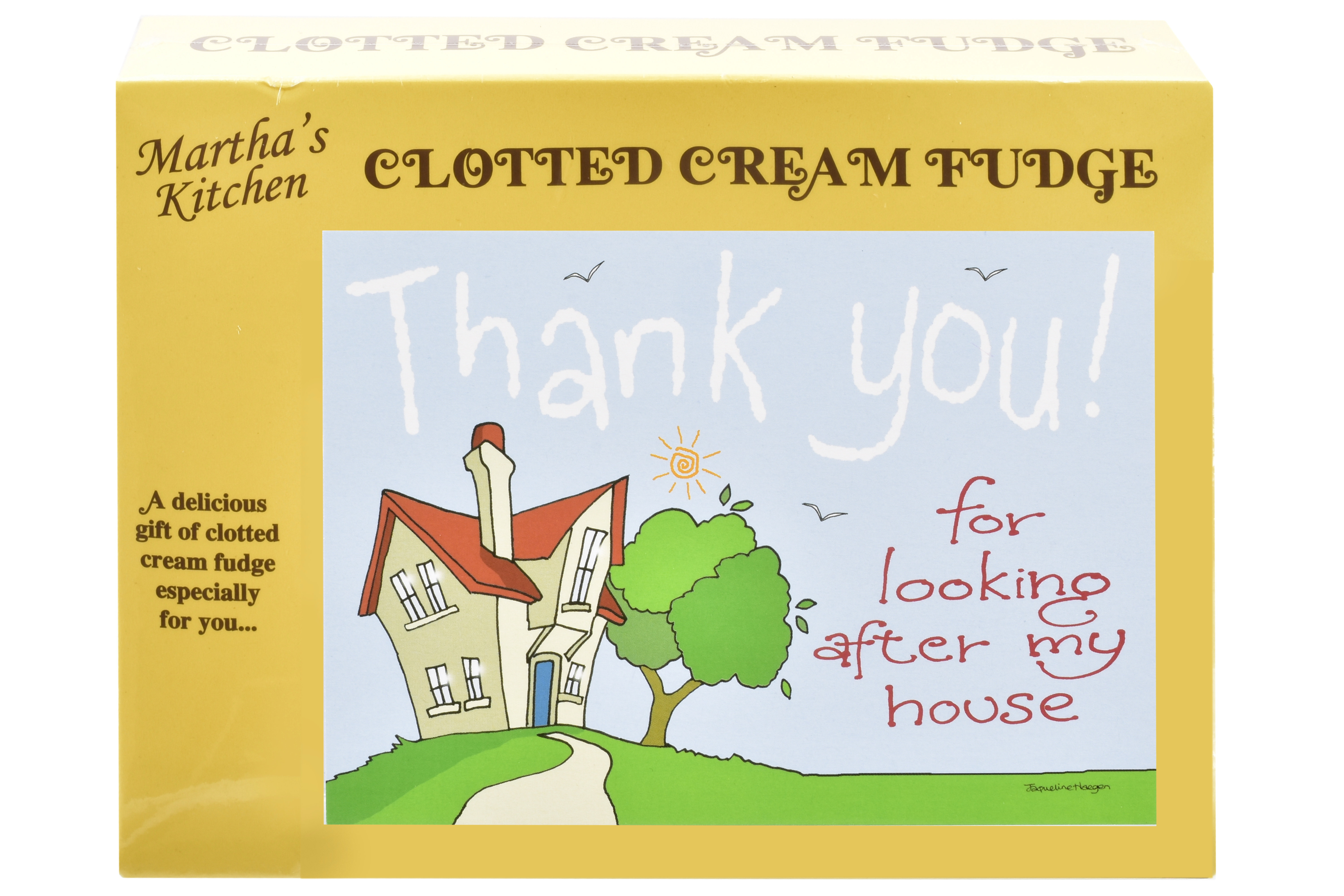 100g Clotted Cream Fudge 'Home' Postcard Box