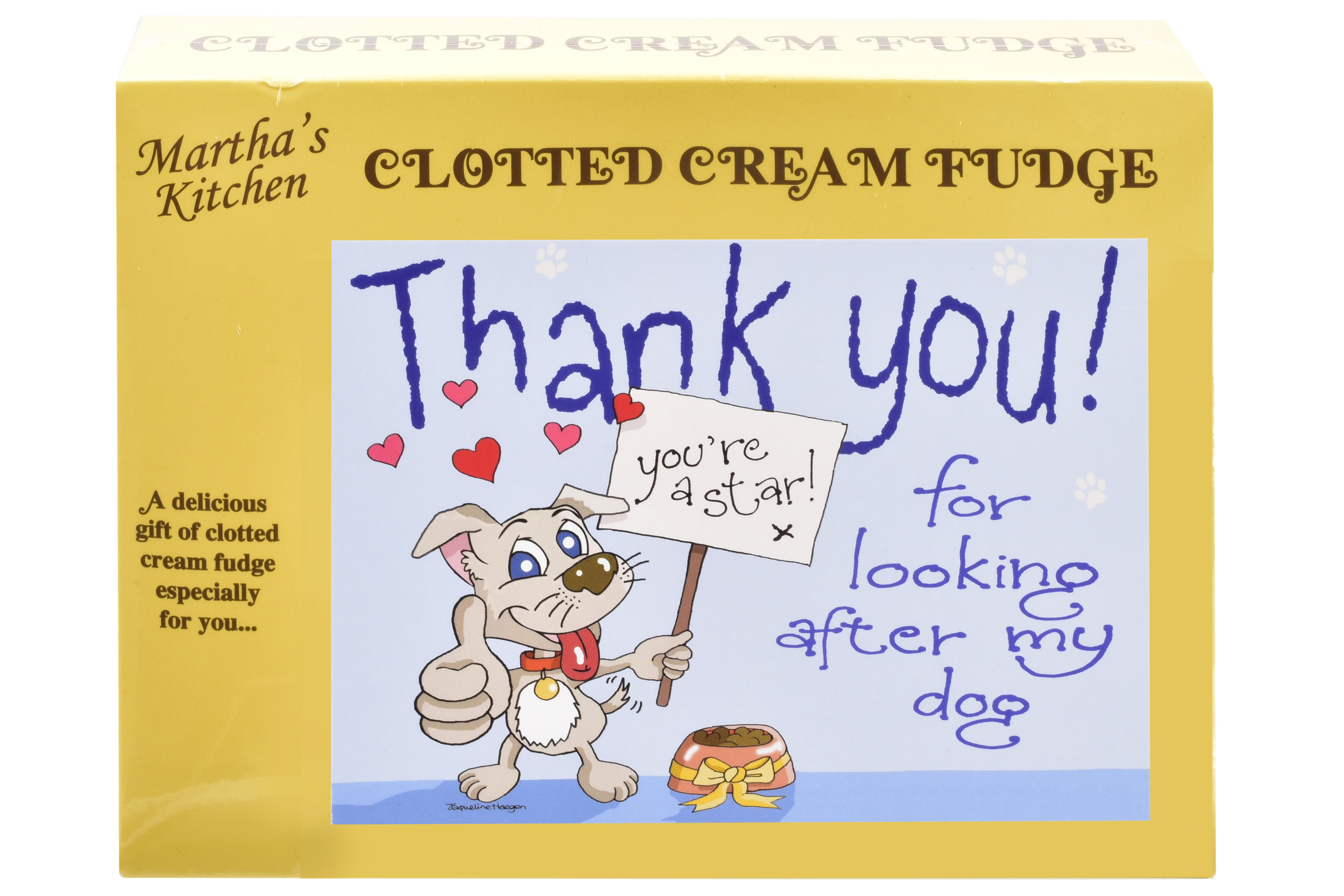 100g Clotted Cream Fudge 'Dog' Postcard Box