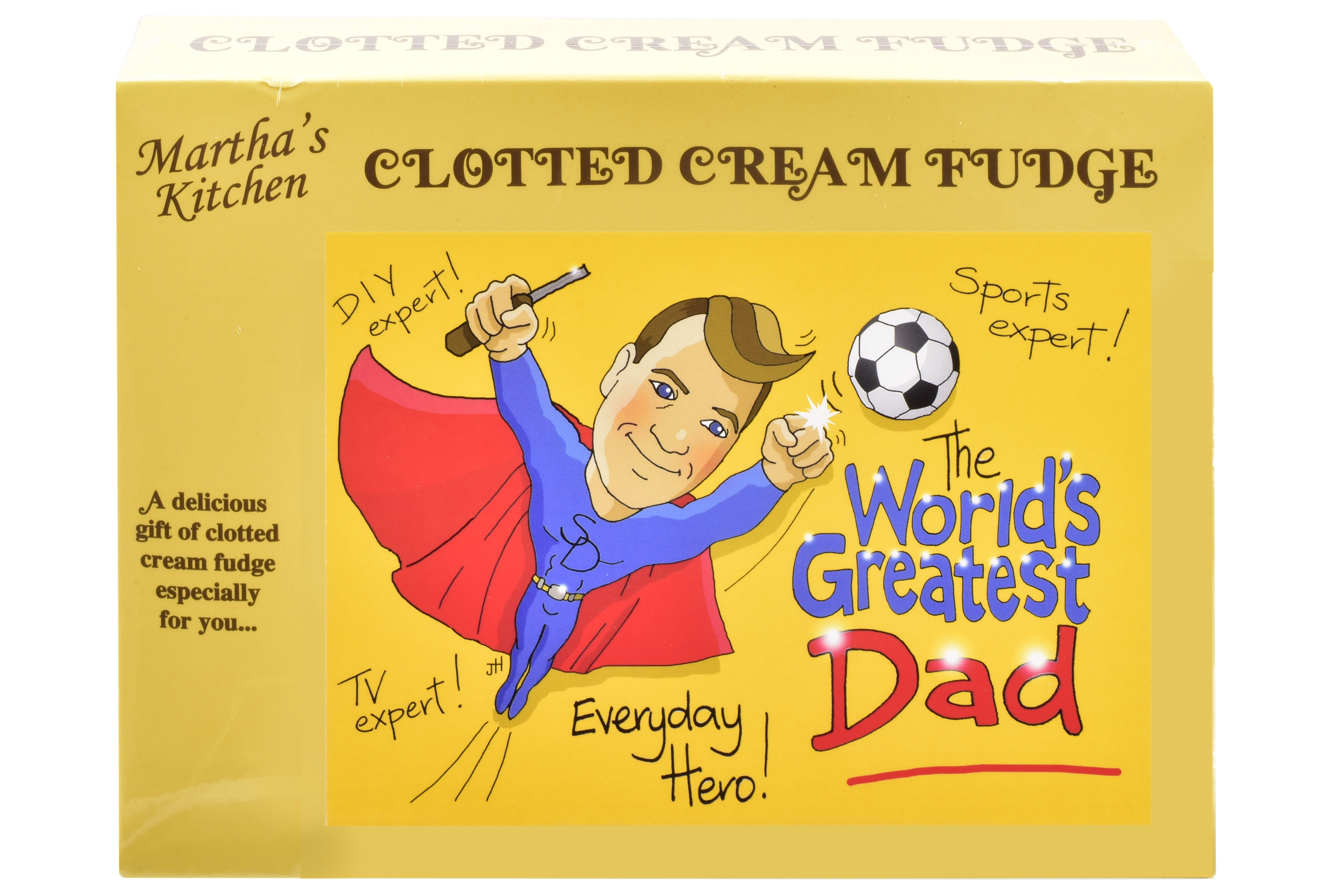 100g Clotted Cream Fudge 'Dad' Postcard Box