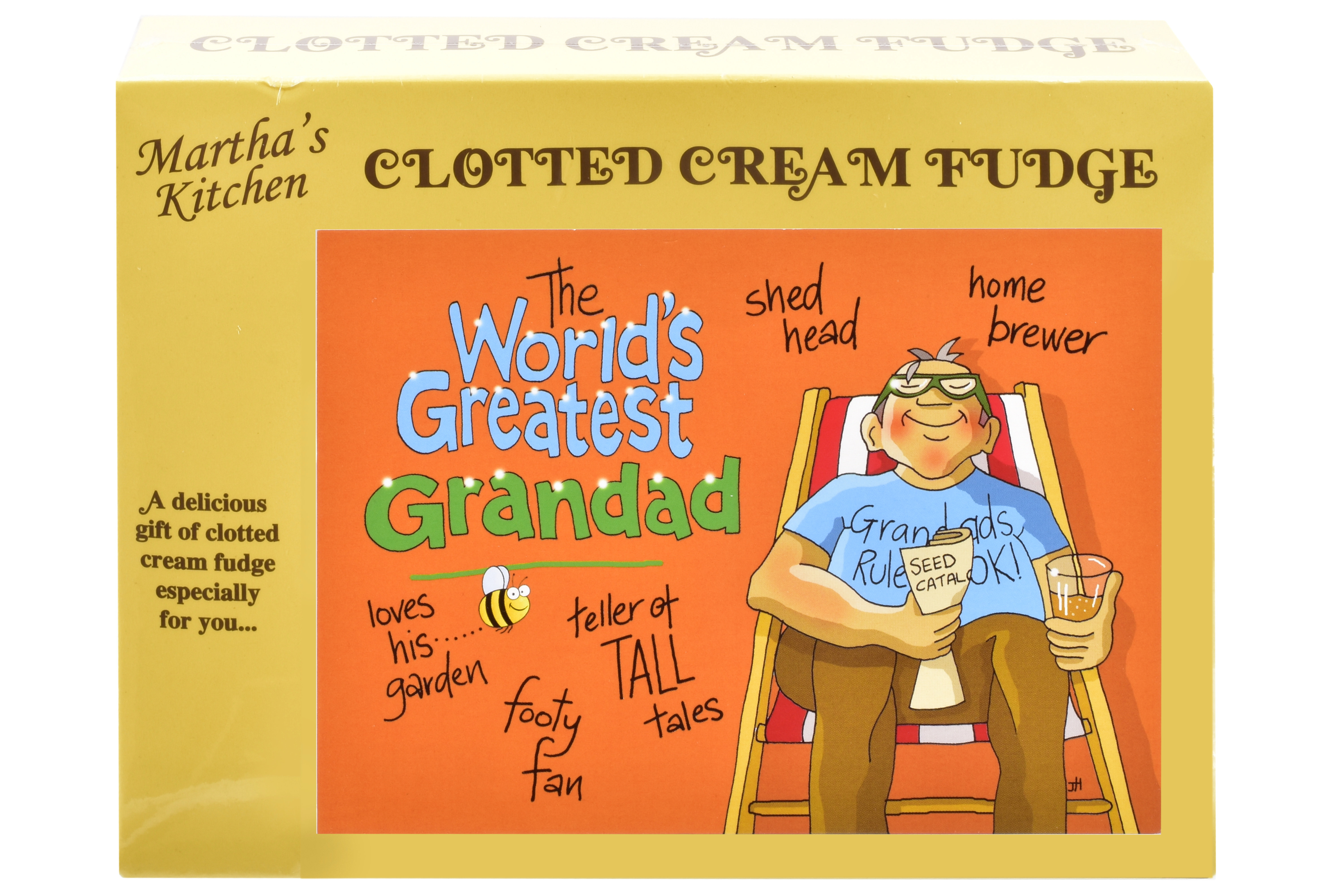 100g C/C Fudge 'Greatest Grandad' Postcard Box