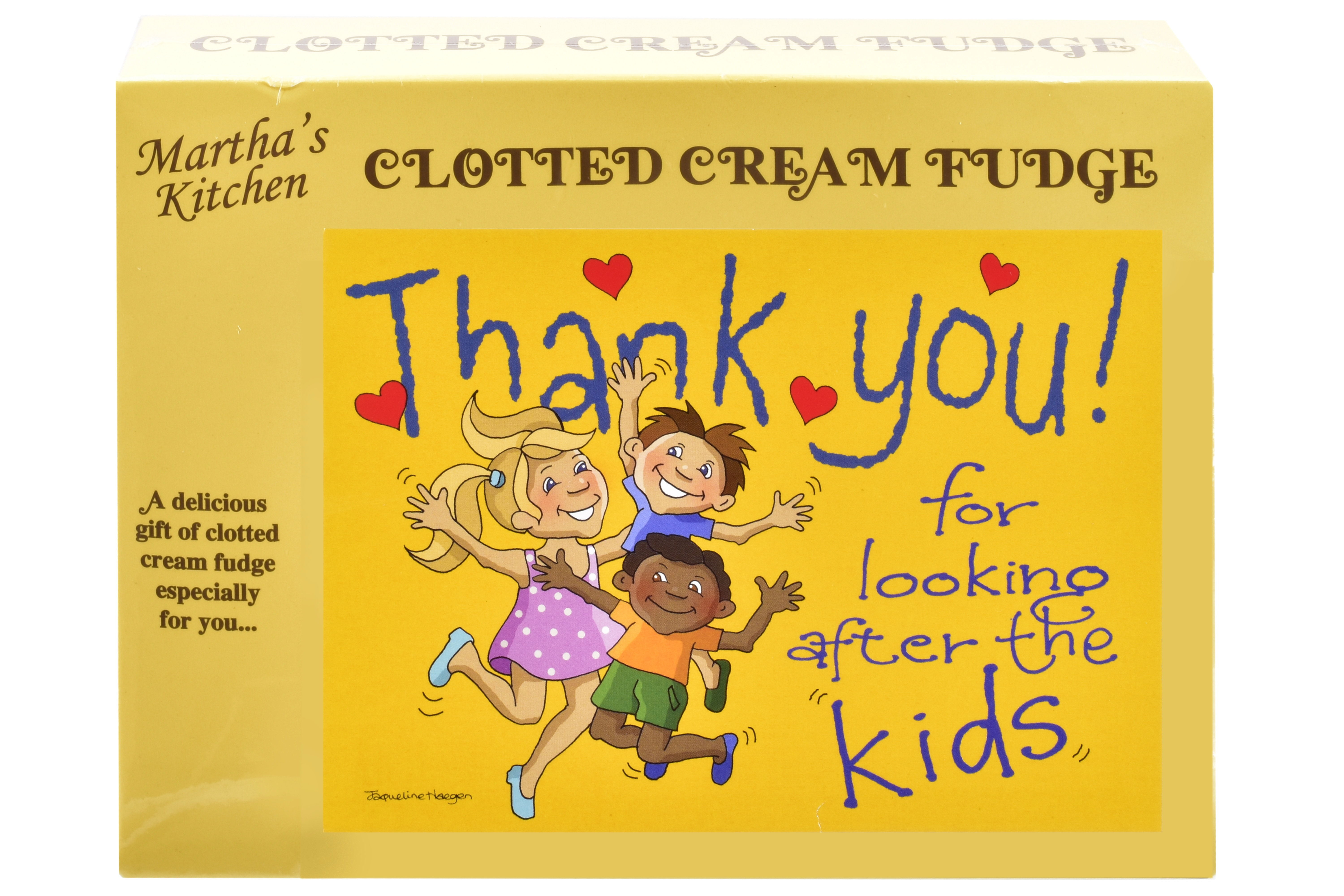 100g Clotted Cream Fudge 'Kids' Postcard Box