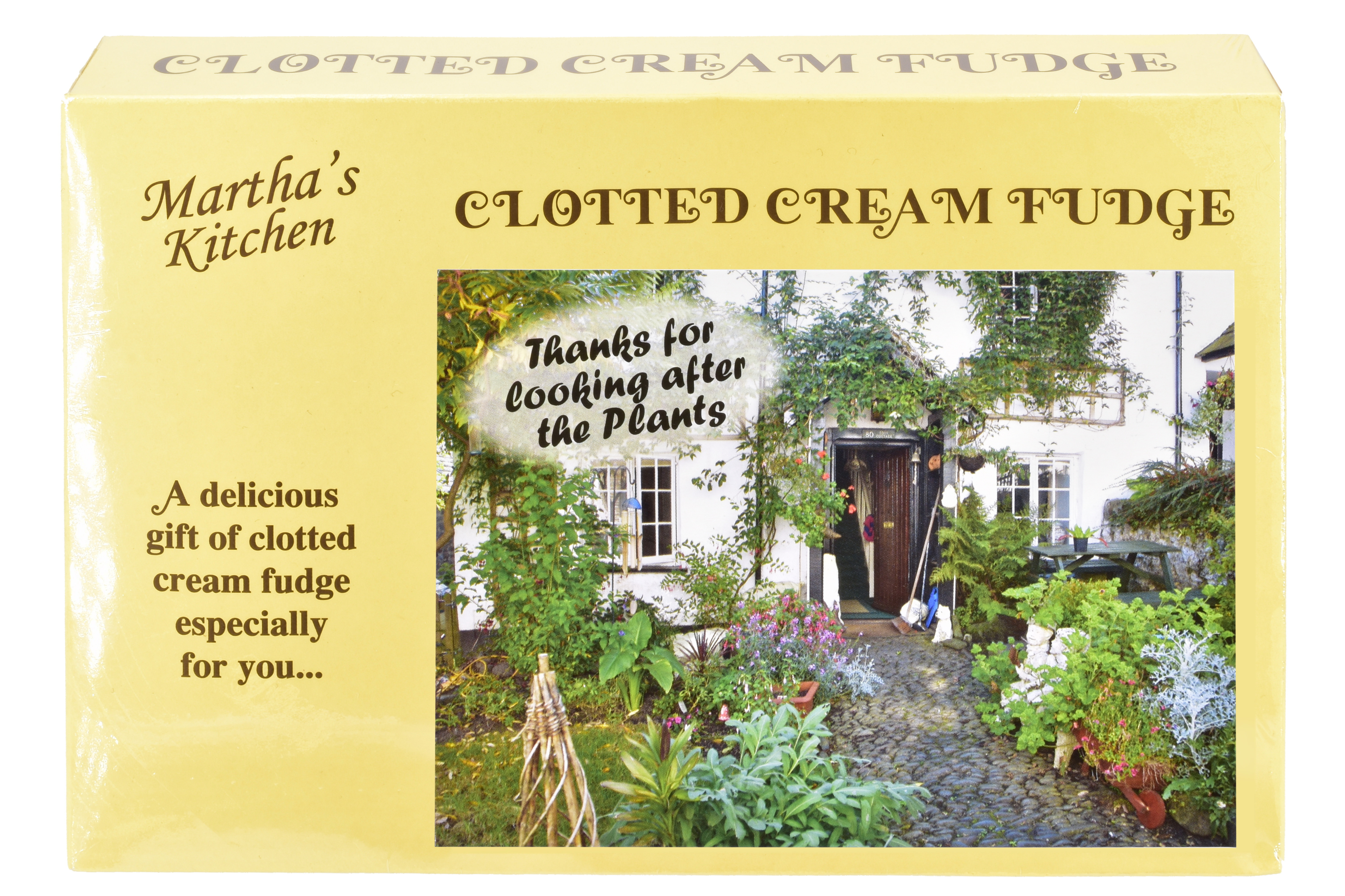 "200g Clotted Cream Fudge ""Plant"" Postcard Box"