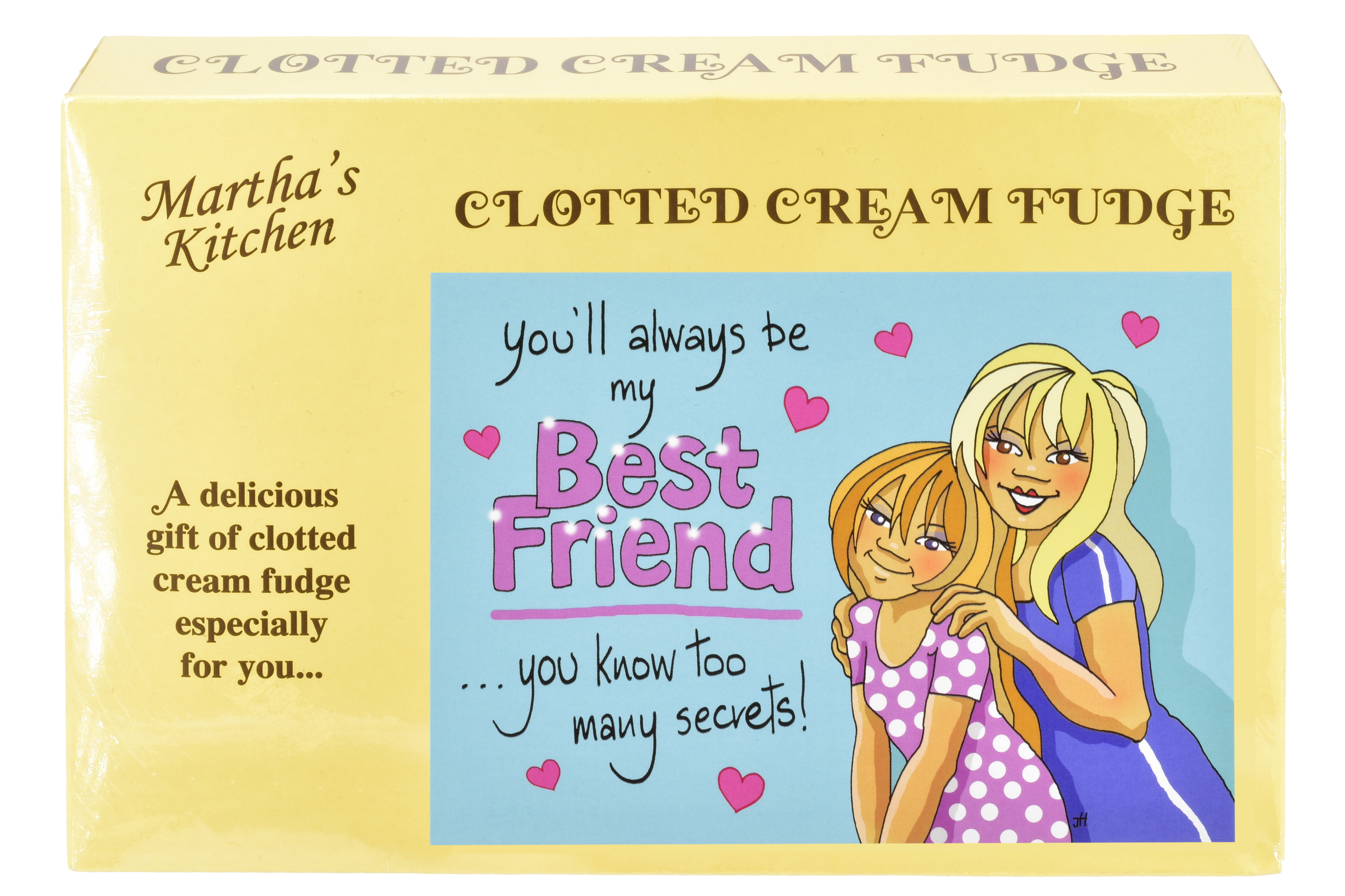 "200g Clotted Cream Fudge ""Best Friend"" Postcard Box"
