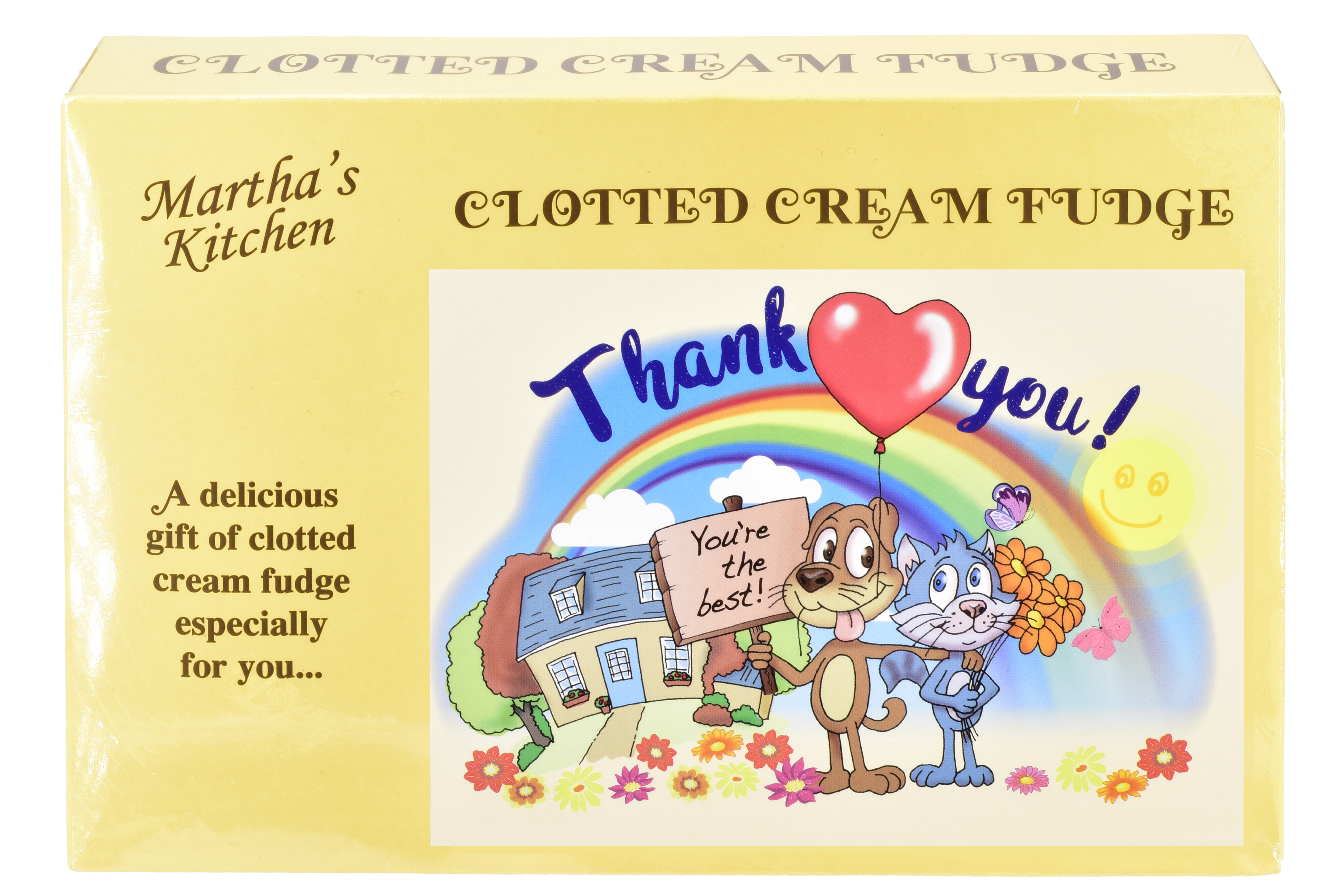 "200g Clotted Cream Fudge ""Thank You"" Postcard Box"