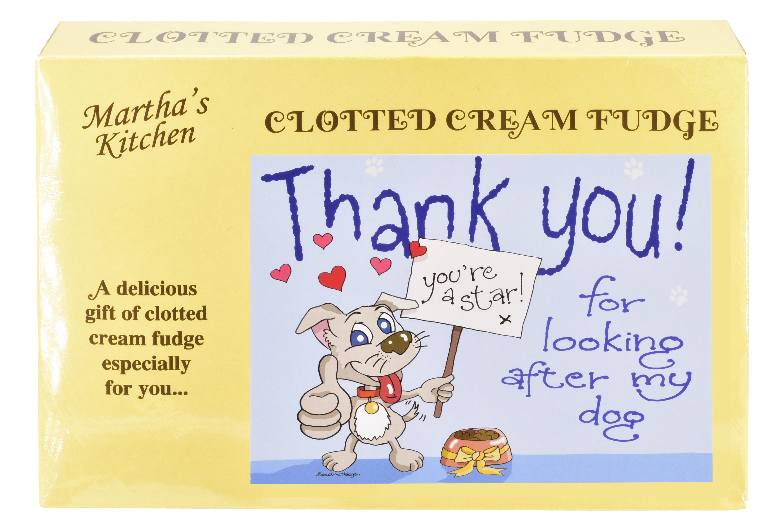 "200g Clotted Cream Fudge ""Dog"" Postcard Box"