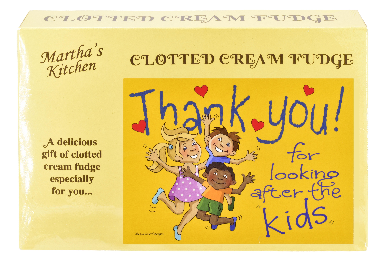 "200g Clotted Cream Fudge ""Kids"" Postcard Box"