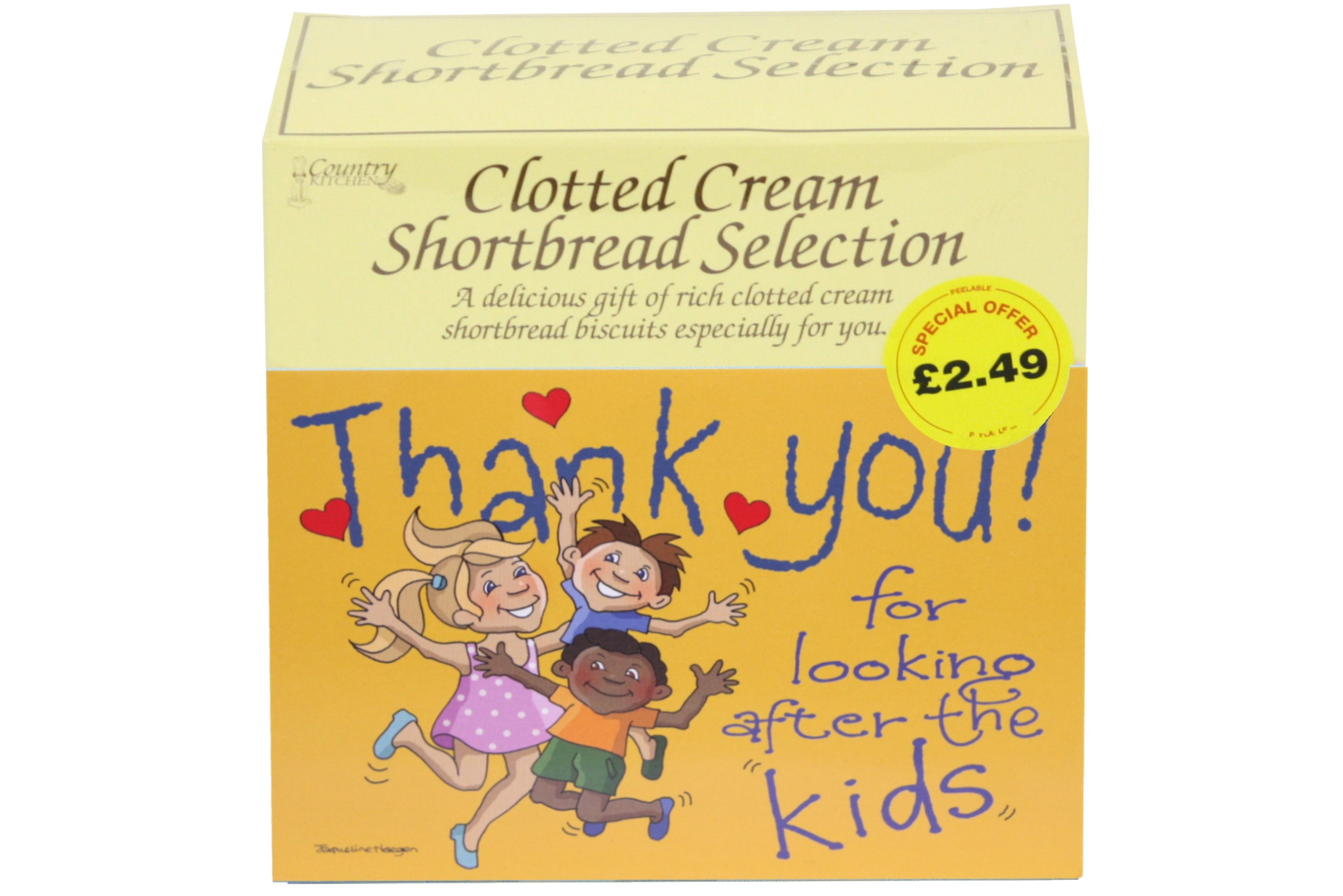 """300g """"Kids"""" Postcard Gift Biscuit Selection"""