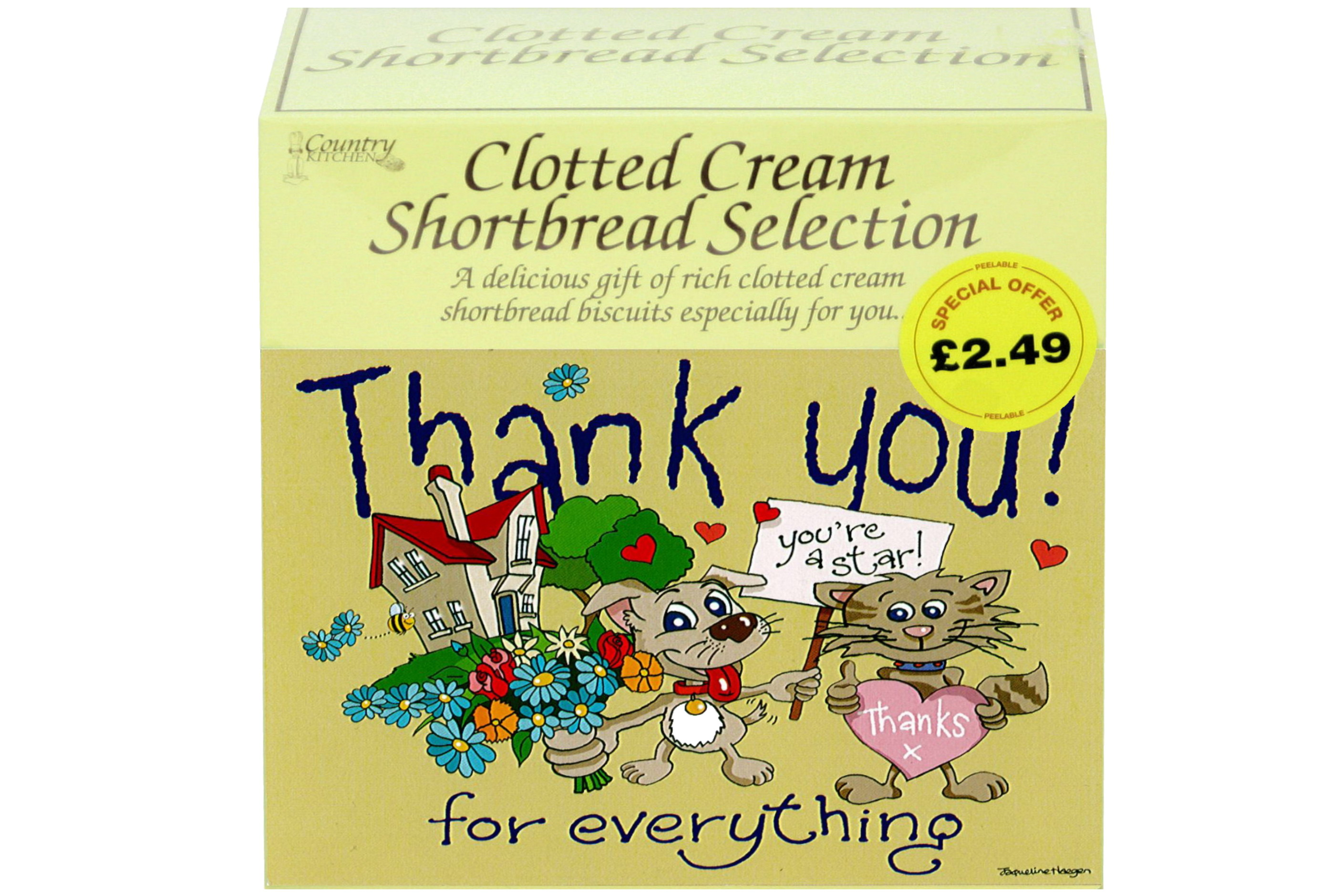 """300g """"Thank You"""" Postcard Gift Biscuit Selection"""