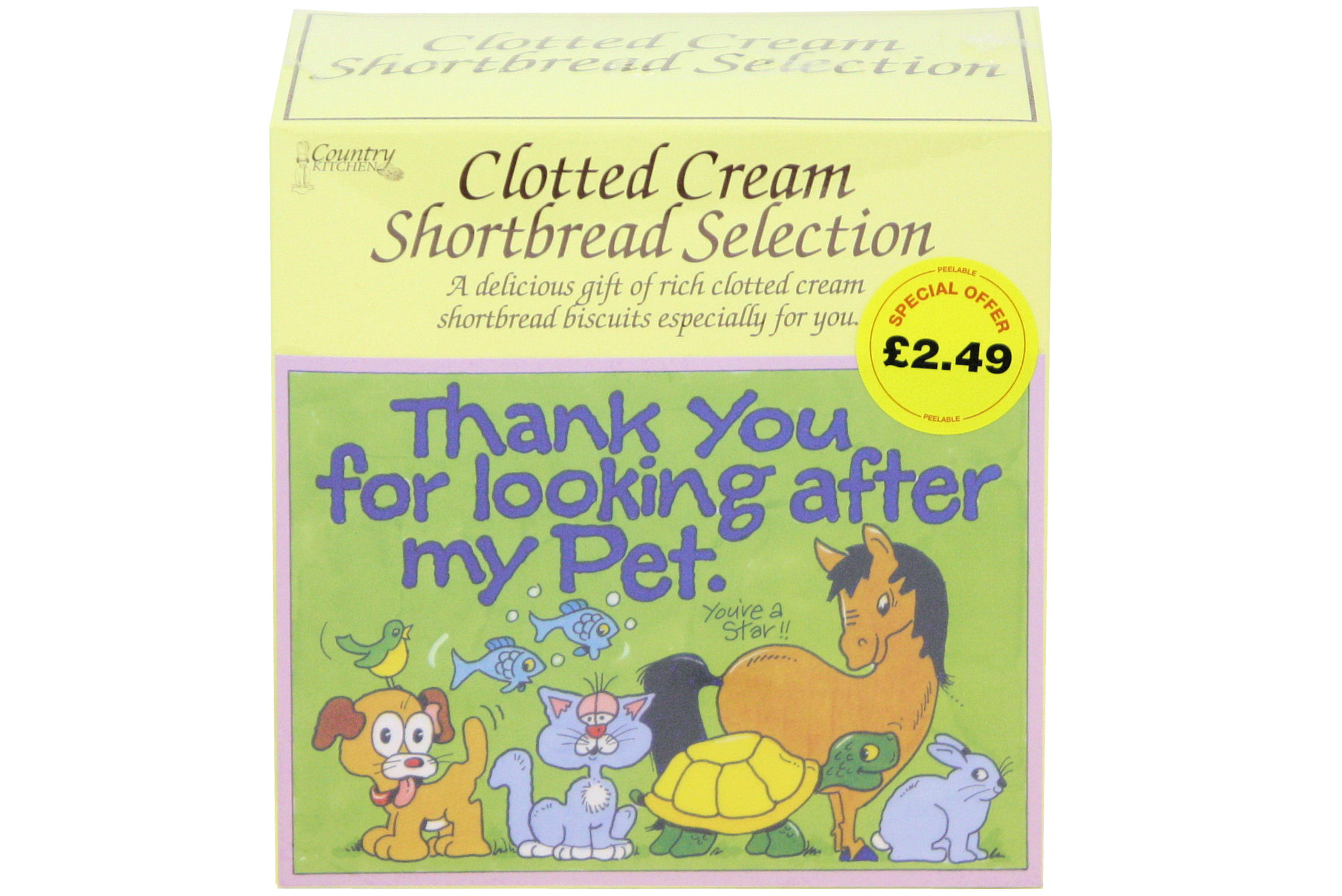"""300g """"Pet"""" Postcard Gift Biscuit Selection"""