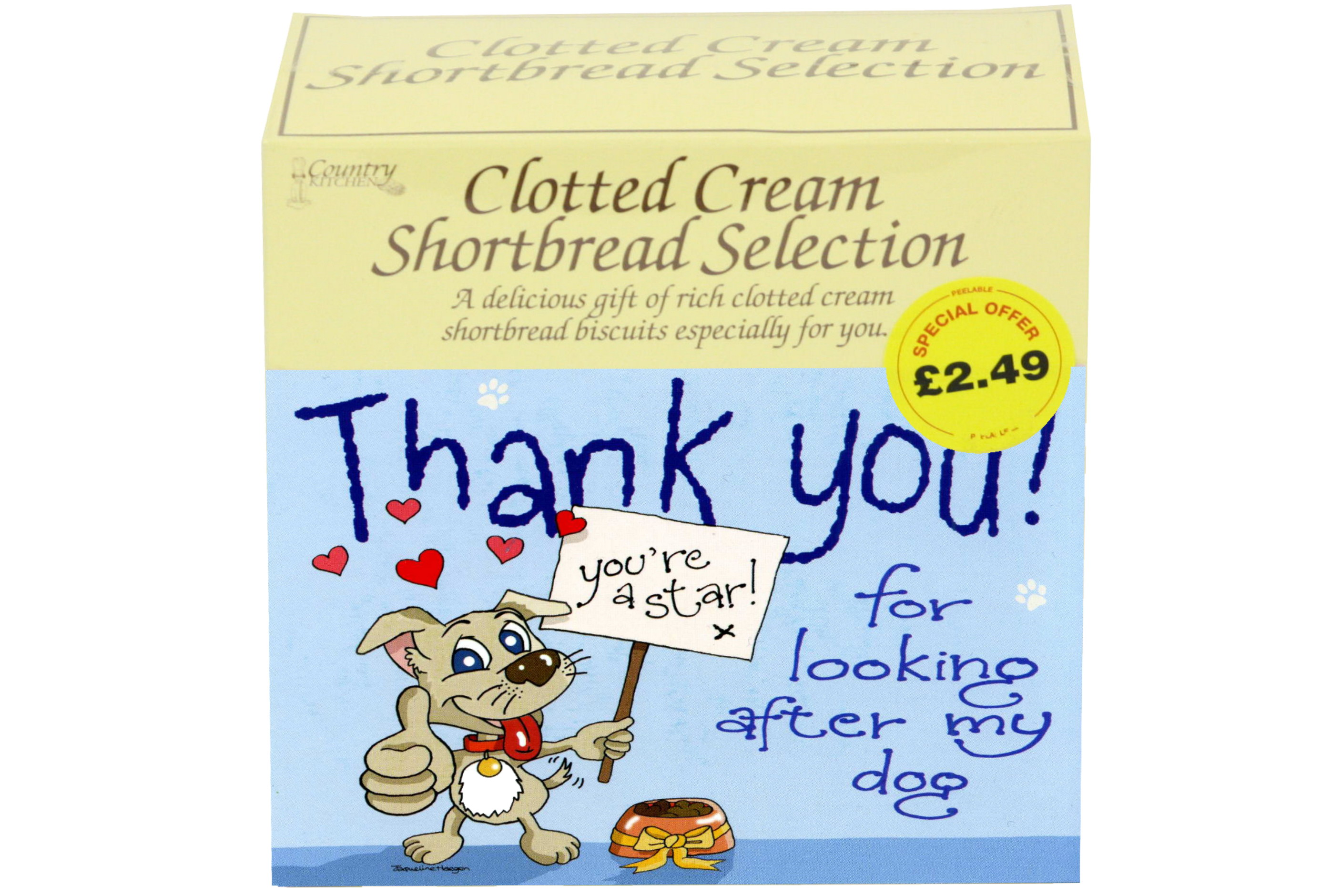 """300g """"Dog"""" Postcard Gift Biscuit Selection"""