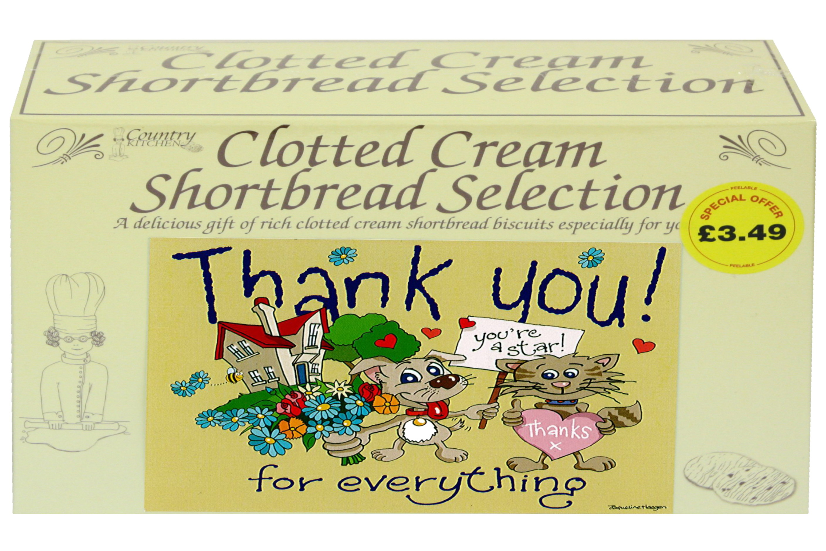 "450g ""Thank You"" Postcard Gift Biscuit Selection"