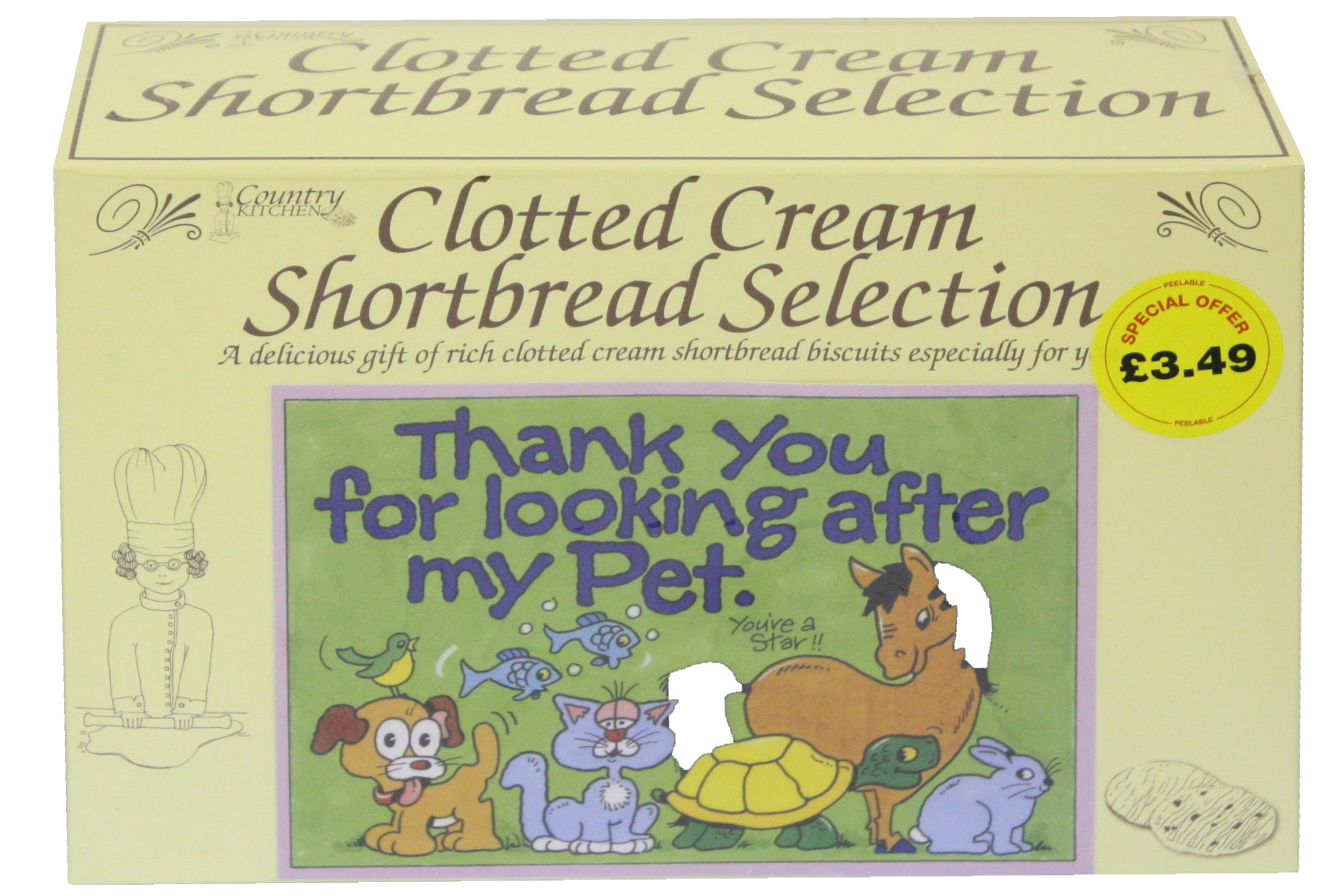 "450g ""Pet"" Postcard Gift Biscuit Selection"