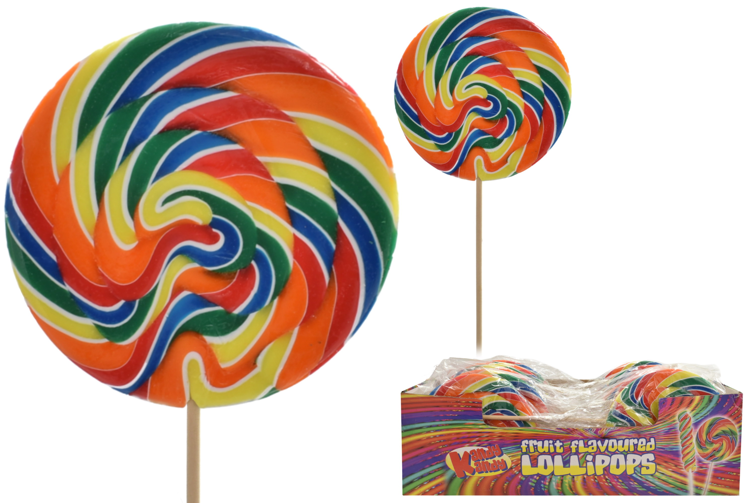 Giant Fruit Catherine Wheel Lolly (175gm) - Display Box
