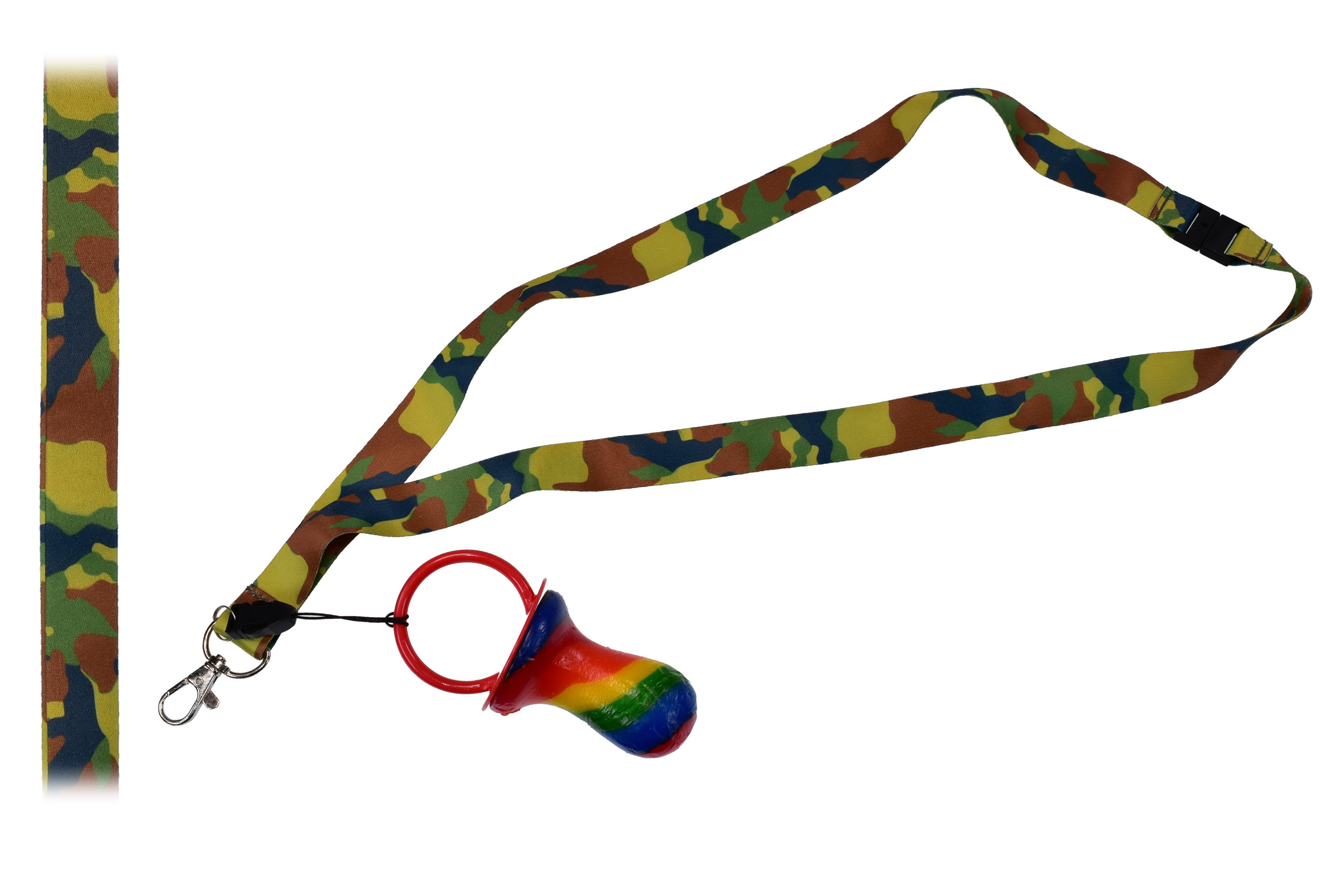 Camouflage Lanyard With Rock Dummy