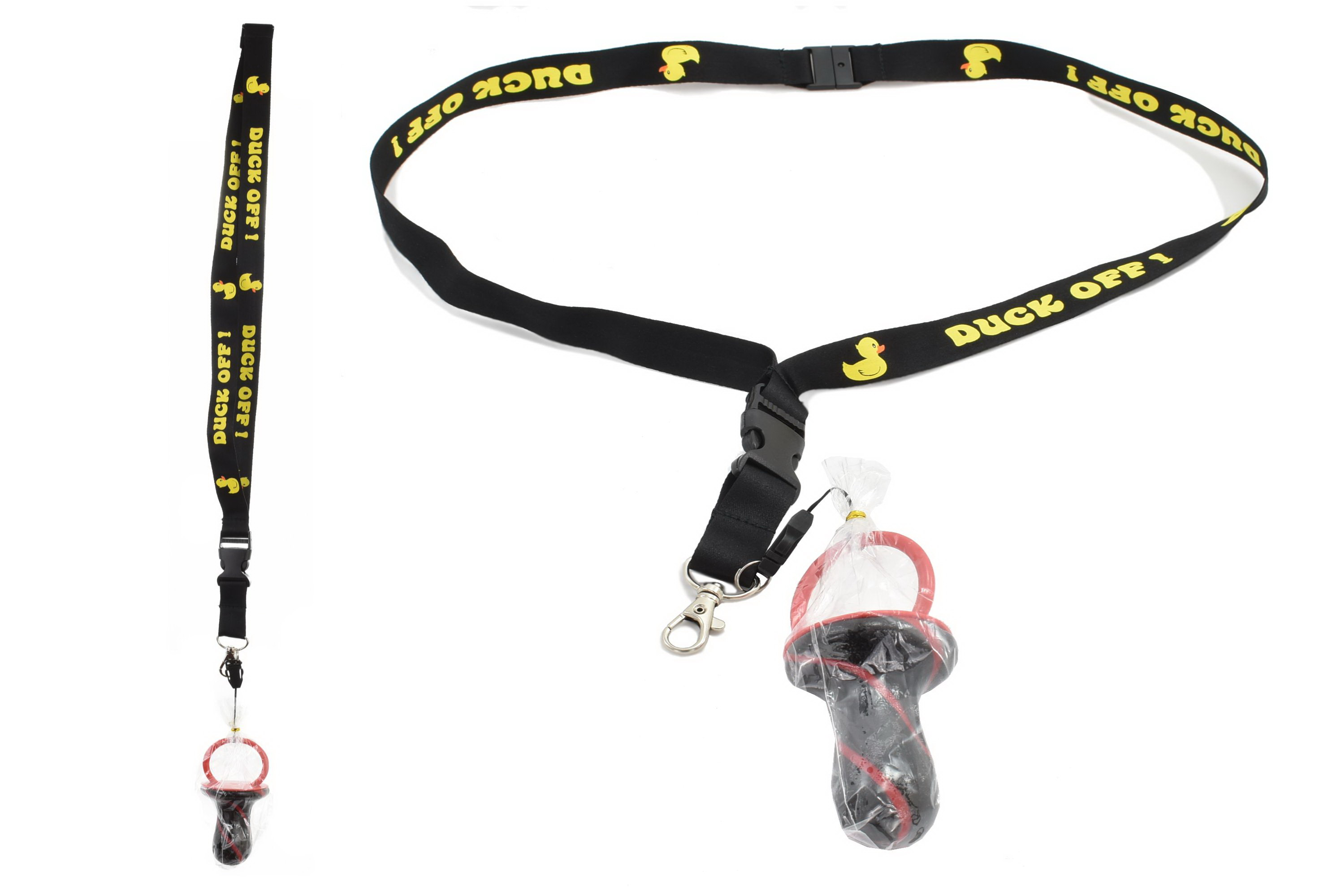 Duck Off!! Lanyard With Rock Dummy