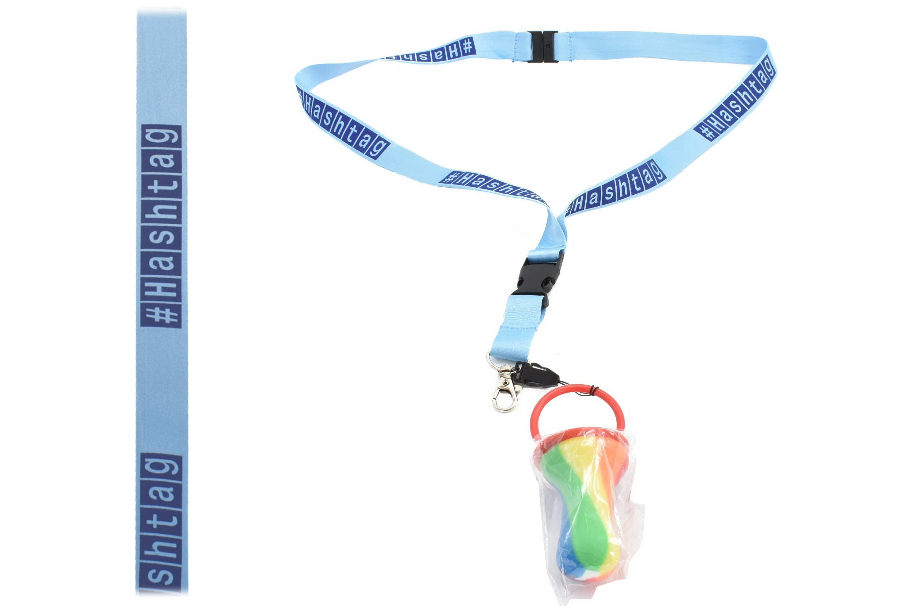 Hashtag Lanyard With Rock Dummy